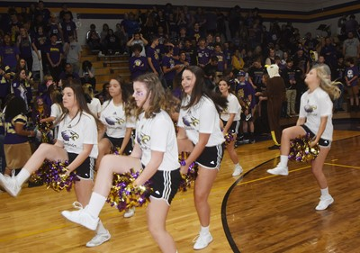 CHS cheerleaders dance.