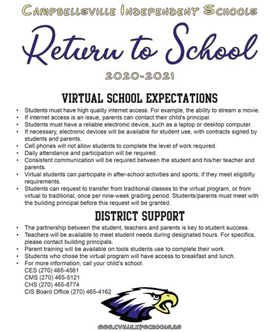 Return to School Plan 5