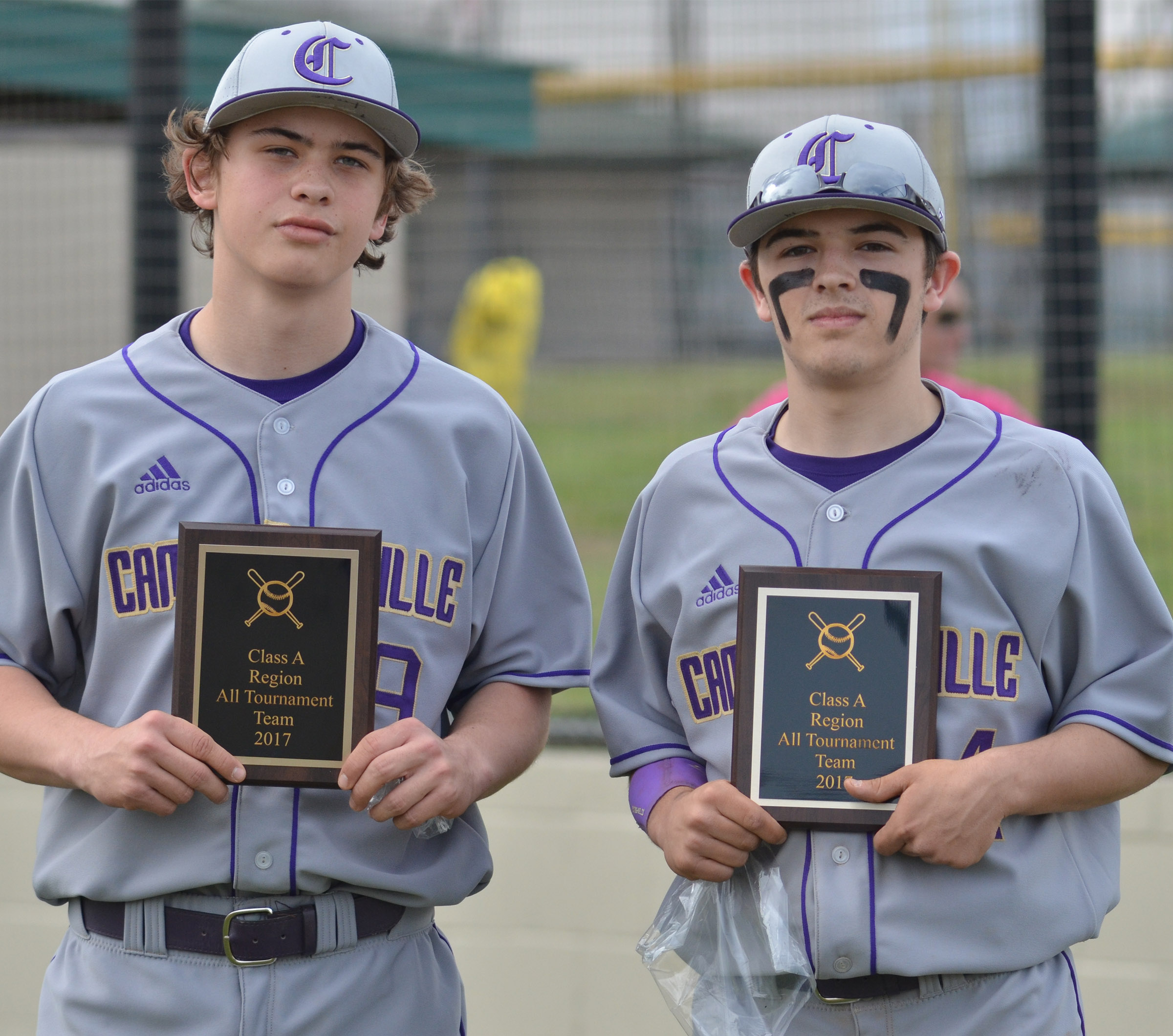 CHS sophomores Treyce Mattingly, at left, and Ryan Kearney were named to the all-tournament team.