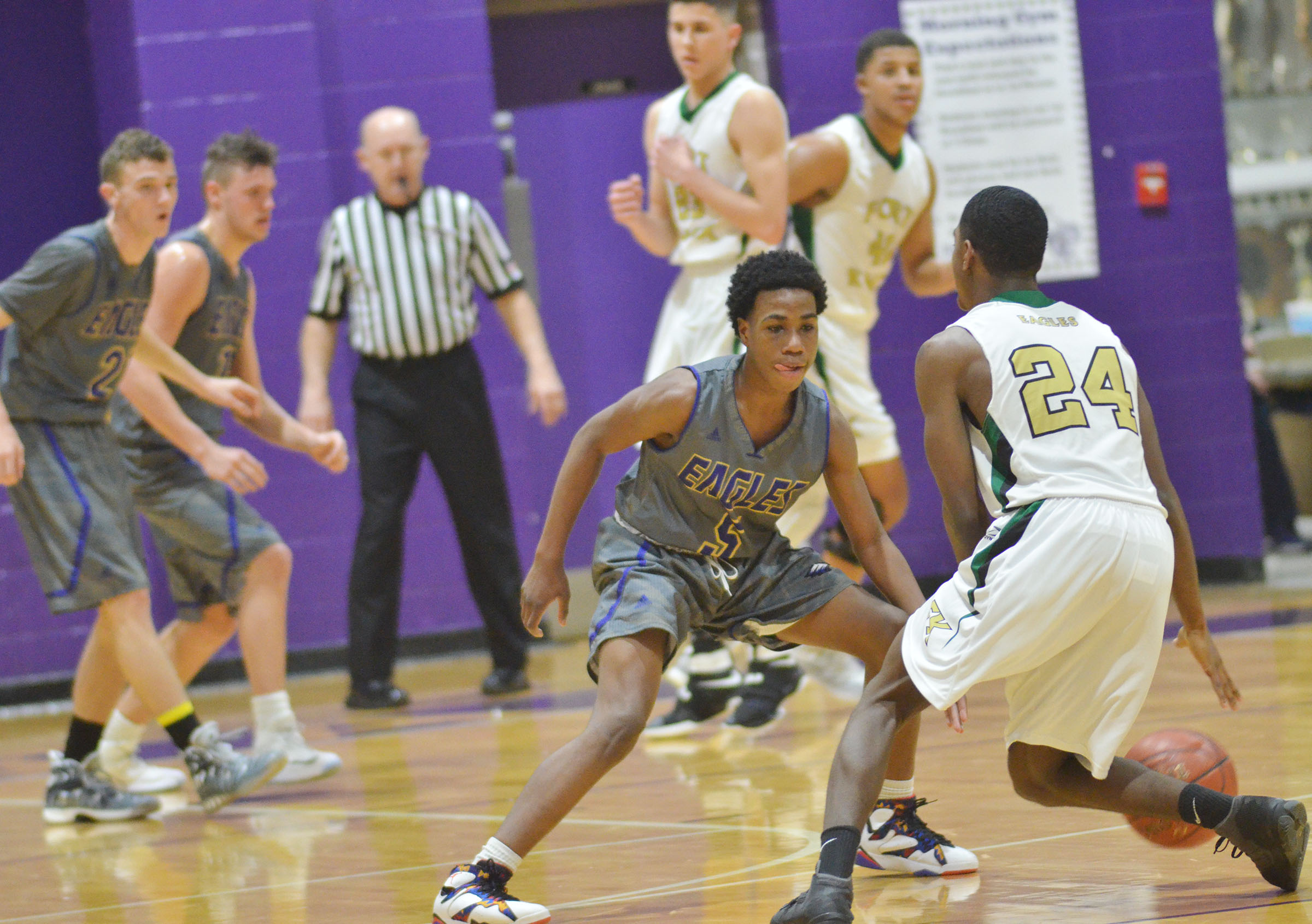 CHS freshman Malachi Corley plays defense.
