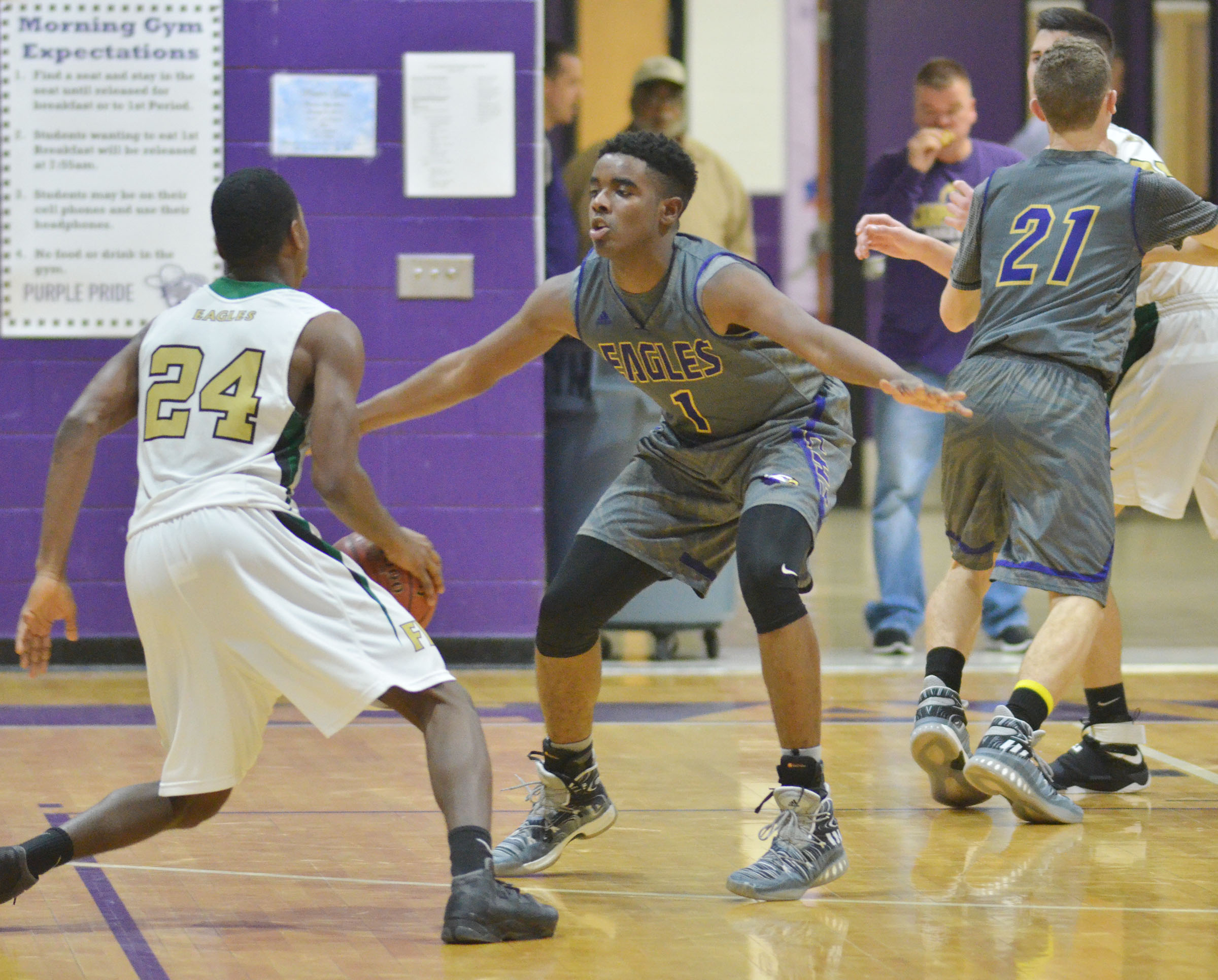 CHS junior Chanson Atkinson plays defense.