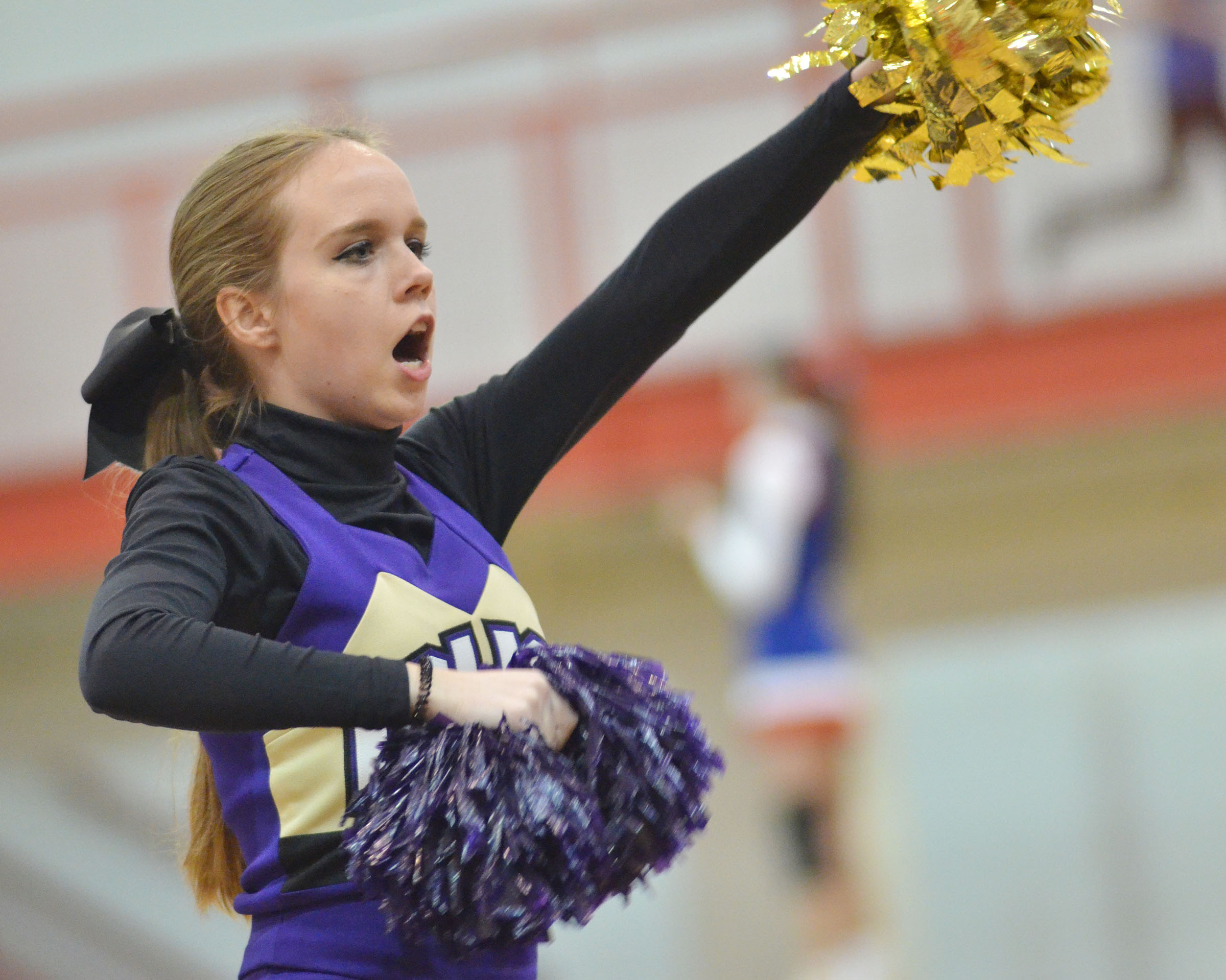CHS junior Lisa-Marie Richter cheers for the Eagles.