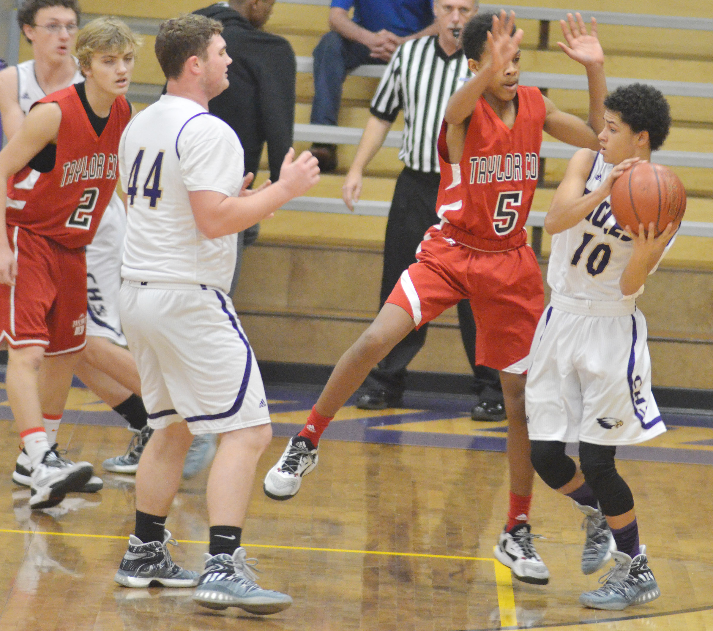 CHS freshman Mikael Vaught looks to pass.