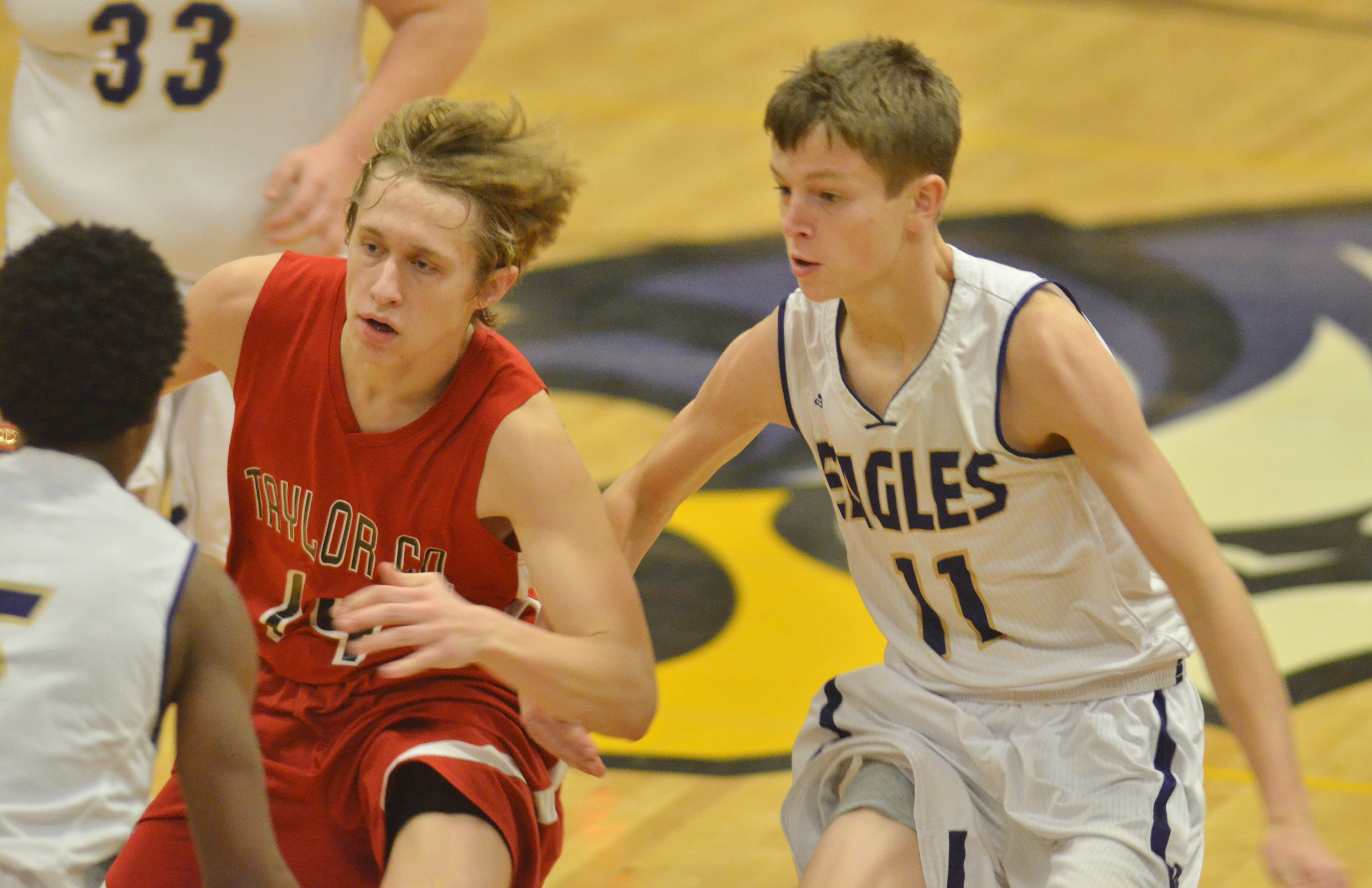 CHS freshman Noah Hughes plays defense.