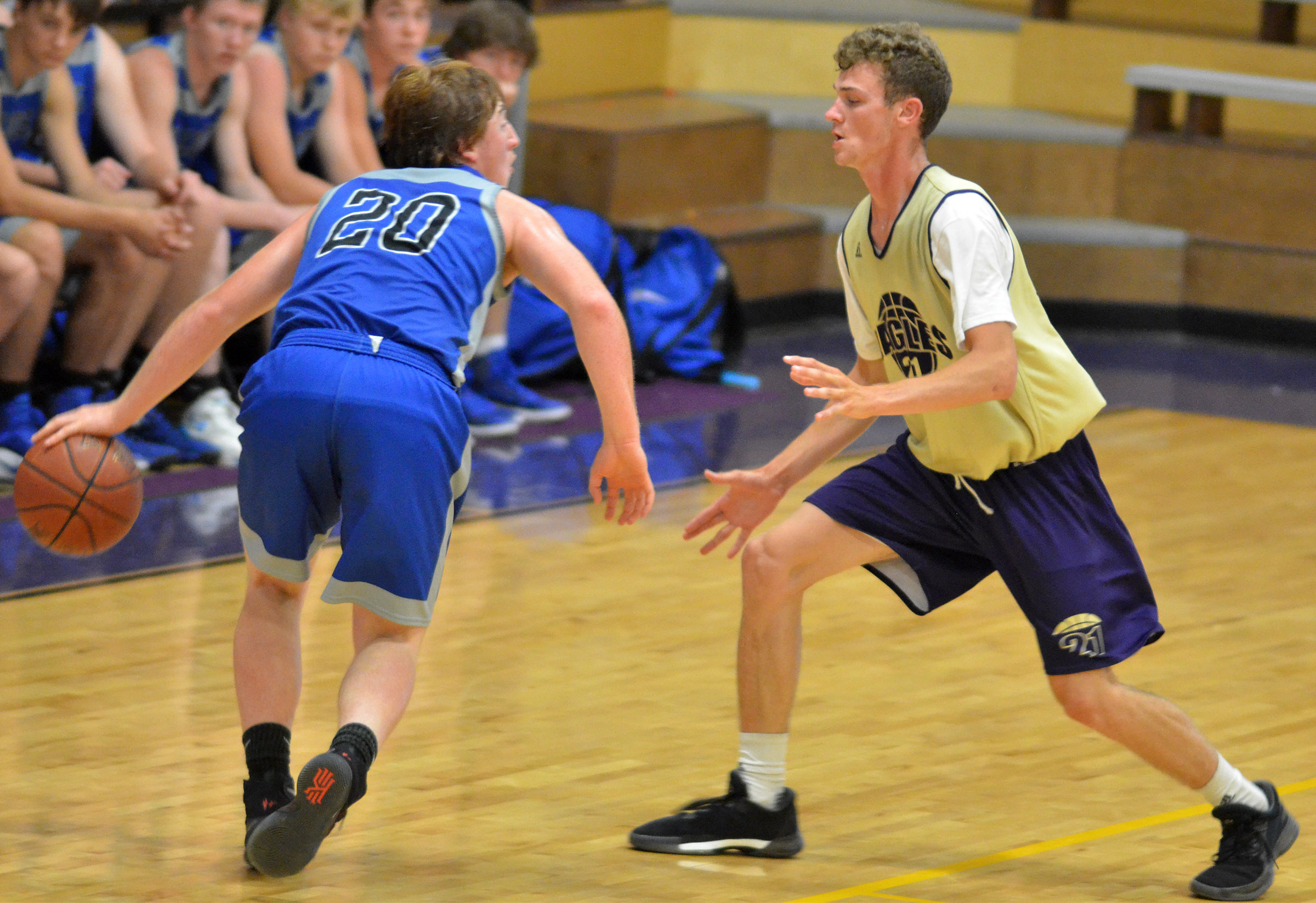 CHS senior Connor Wilson plays defense.