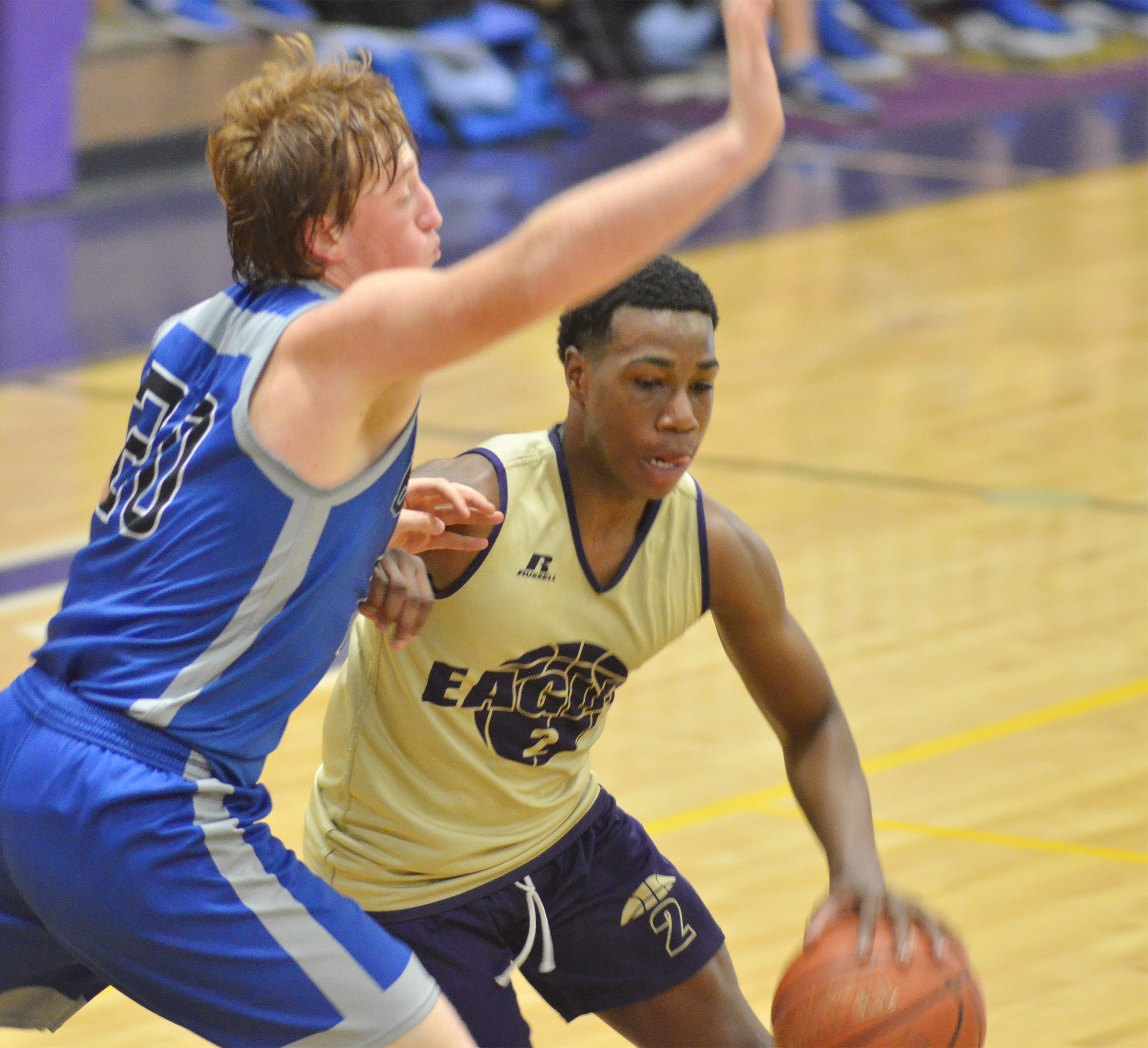 CHS sophomore Malachi Corley dribbles to the basket.