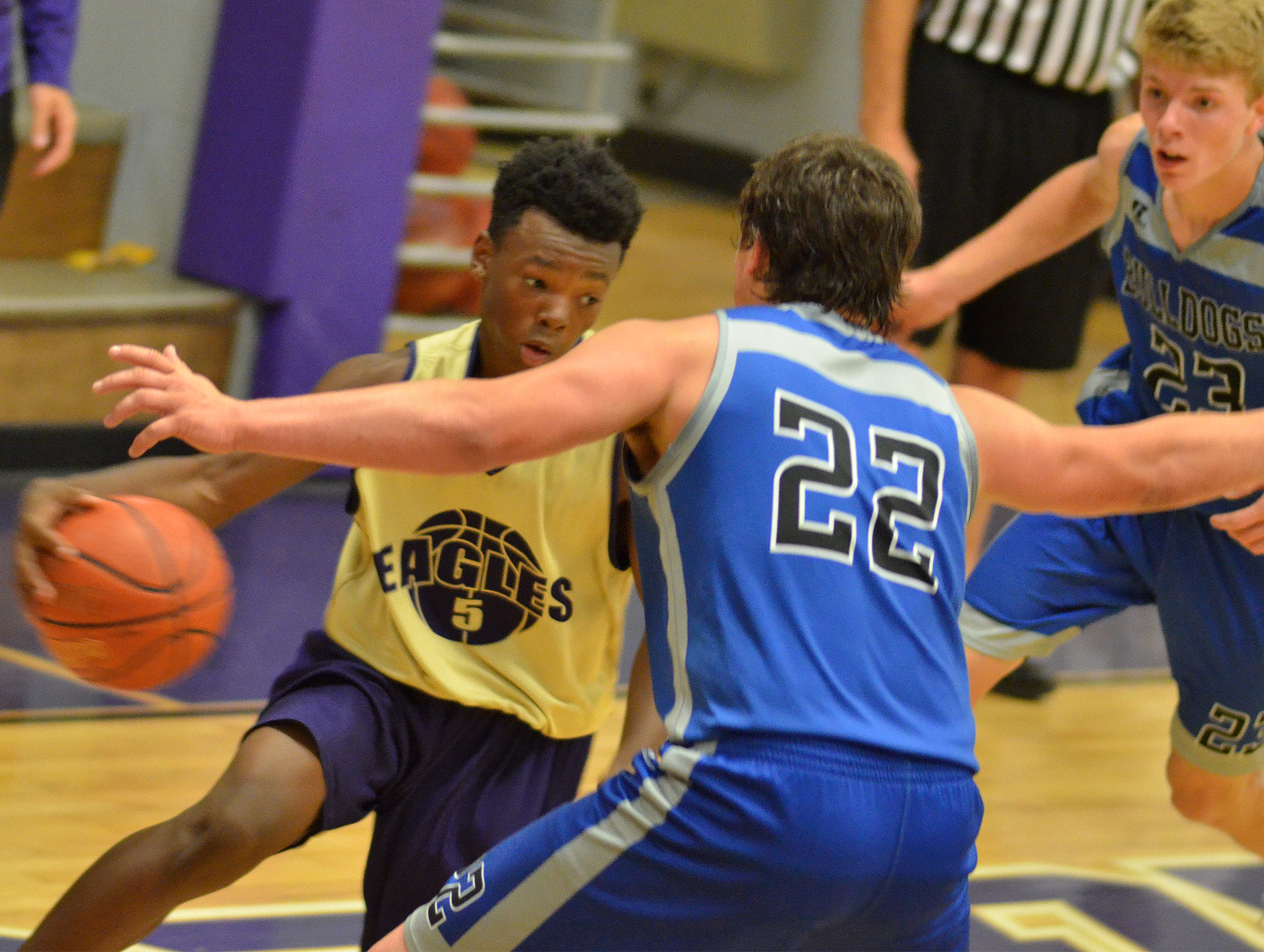 CHS sophomore Sae'von Buckner dribbles to the basket.