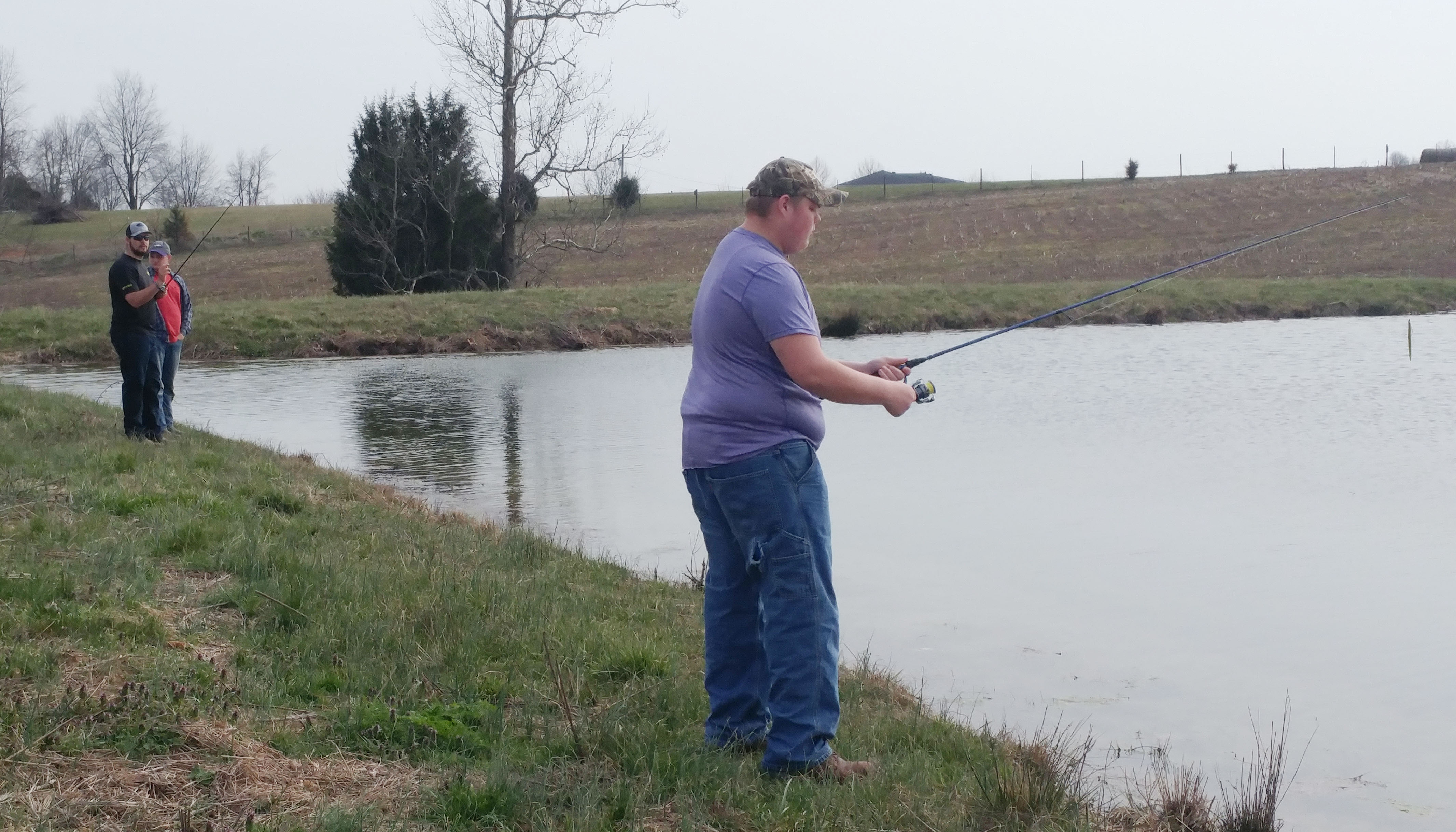 CHS junior Tosye Cox fishes.