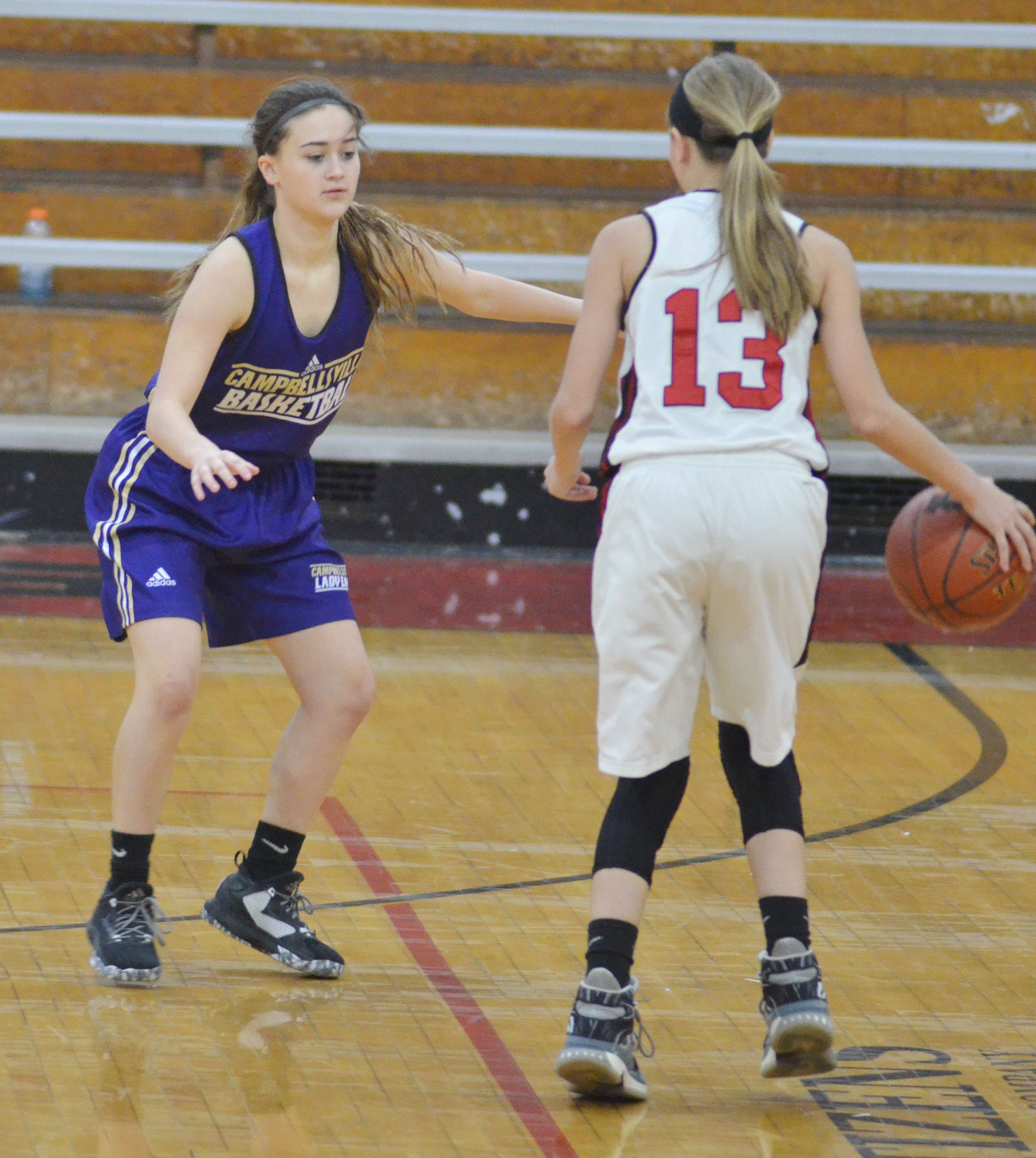 CHS freshman Bailey Thompson plays defense.