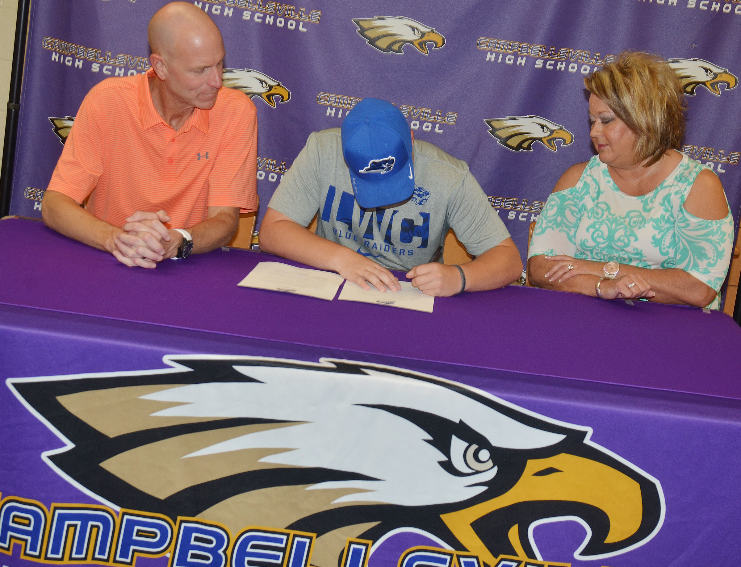 Campbellsville High School senior Noah Wagers will continue his academic and golf career this fall at Lindsey Wilson College. Wagers recently signed his letter of intent in a special ceremony with family, including his parents Steve and Kim, friends, teammates and coaches.