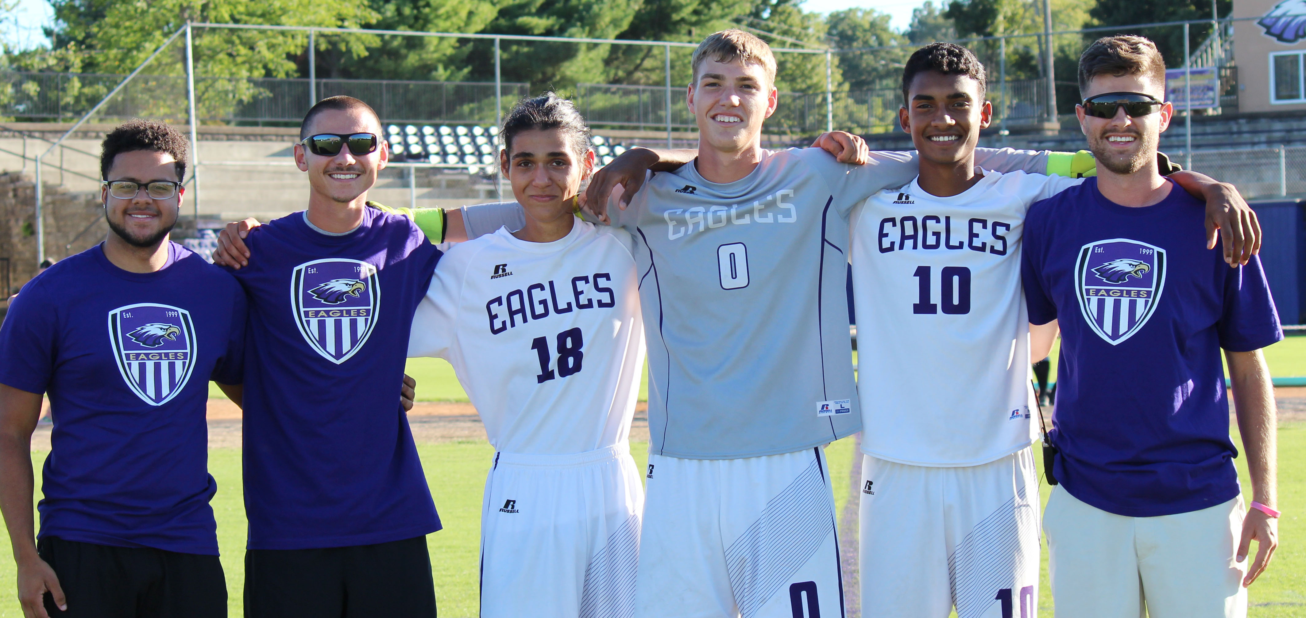 CHS senior soccer players were honored in a special ceremony on Tuesday, Sept. 27. They are, from left, statistician manager Malique Spaulding, head coach Bradley Harris, Michael De Oliveira, Zack Bottoms, Daniel Silva and assistant coach Matthew Schmuck.