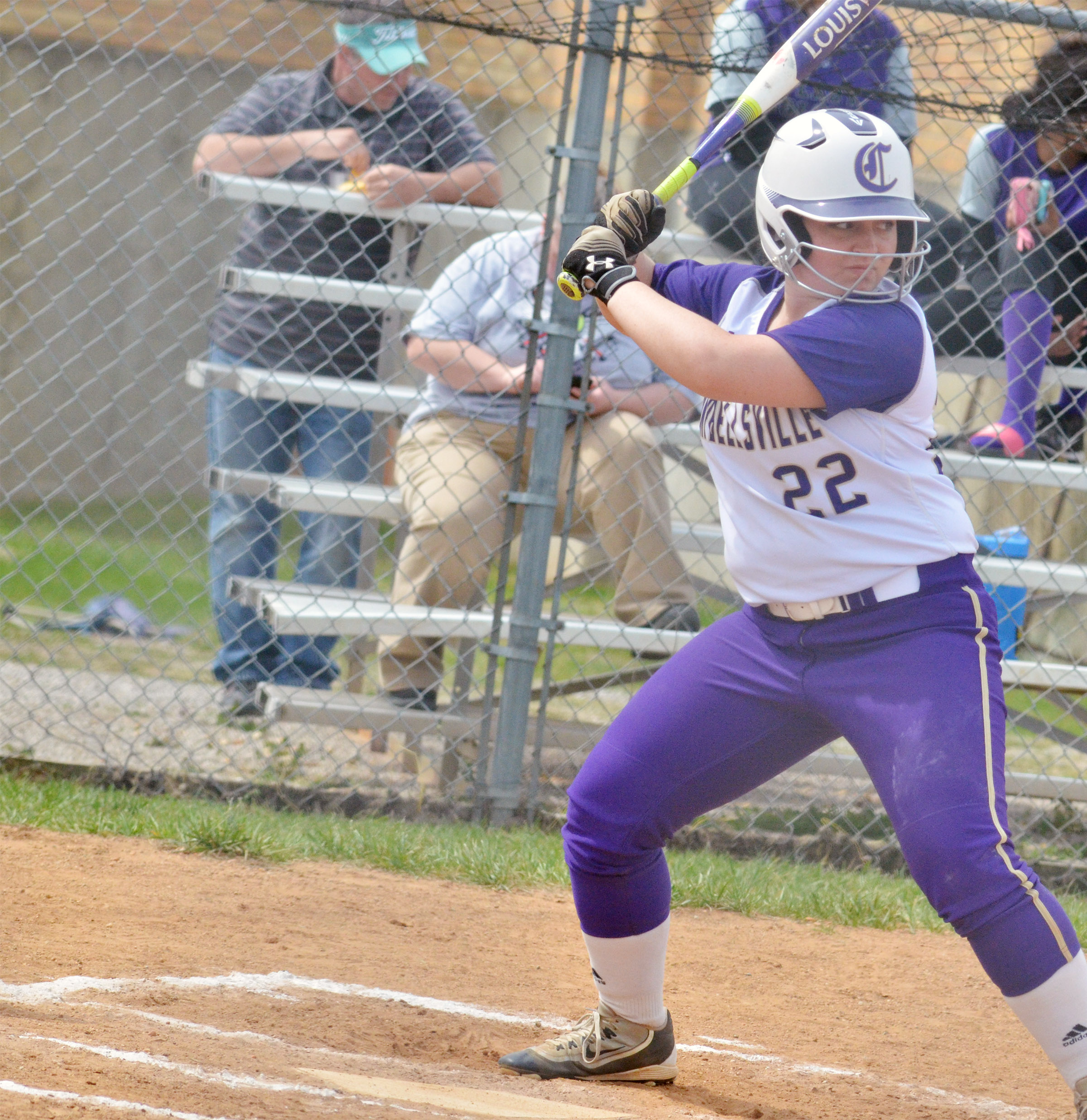CHS junior Caitlin Bright bats.
