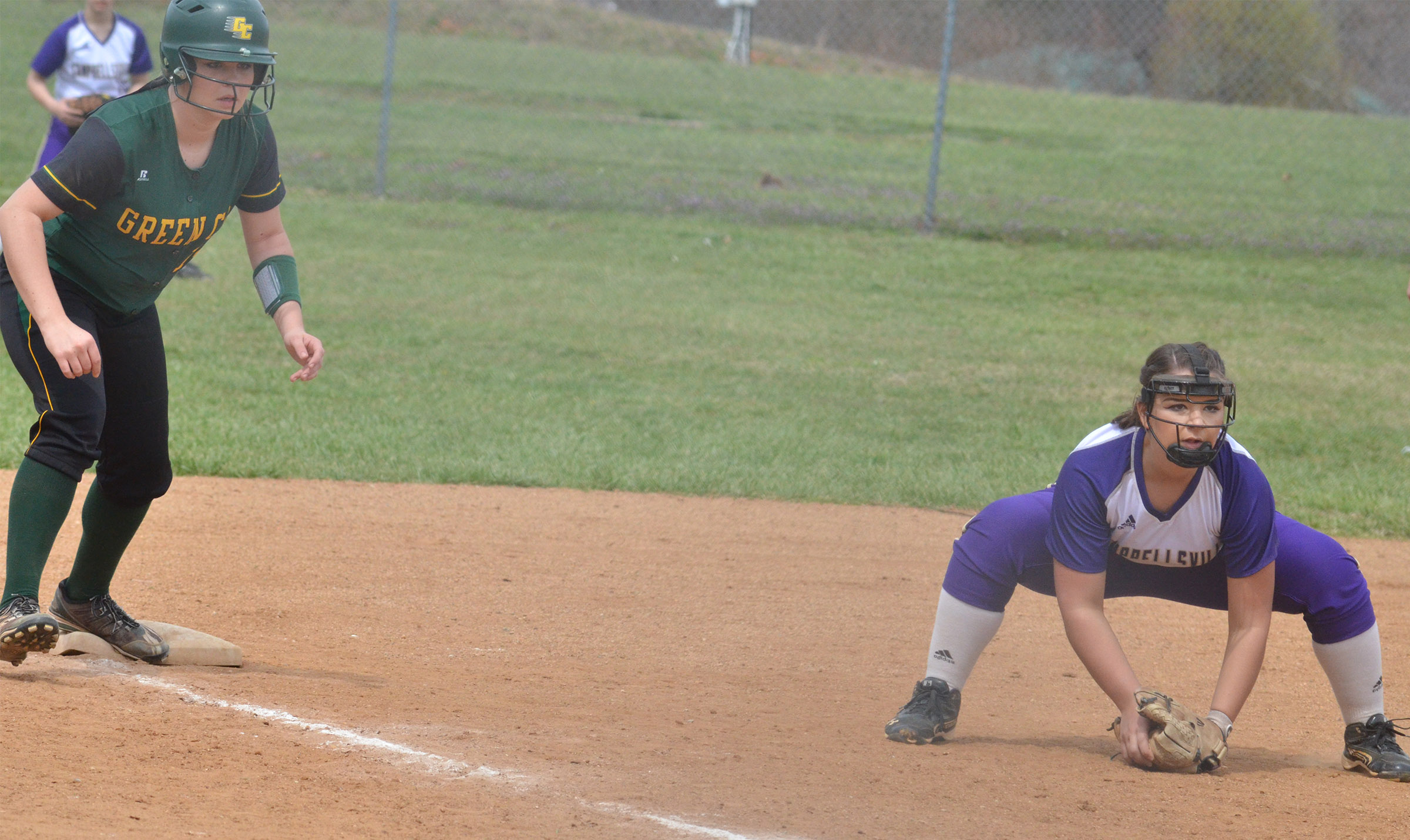 CHS senior Kailey Morris mans third base.