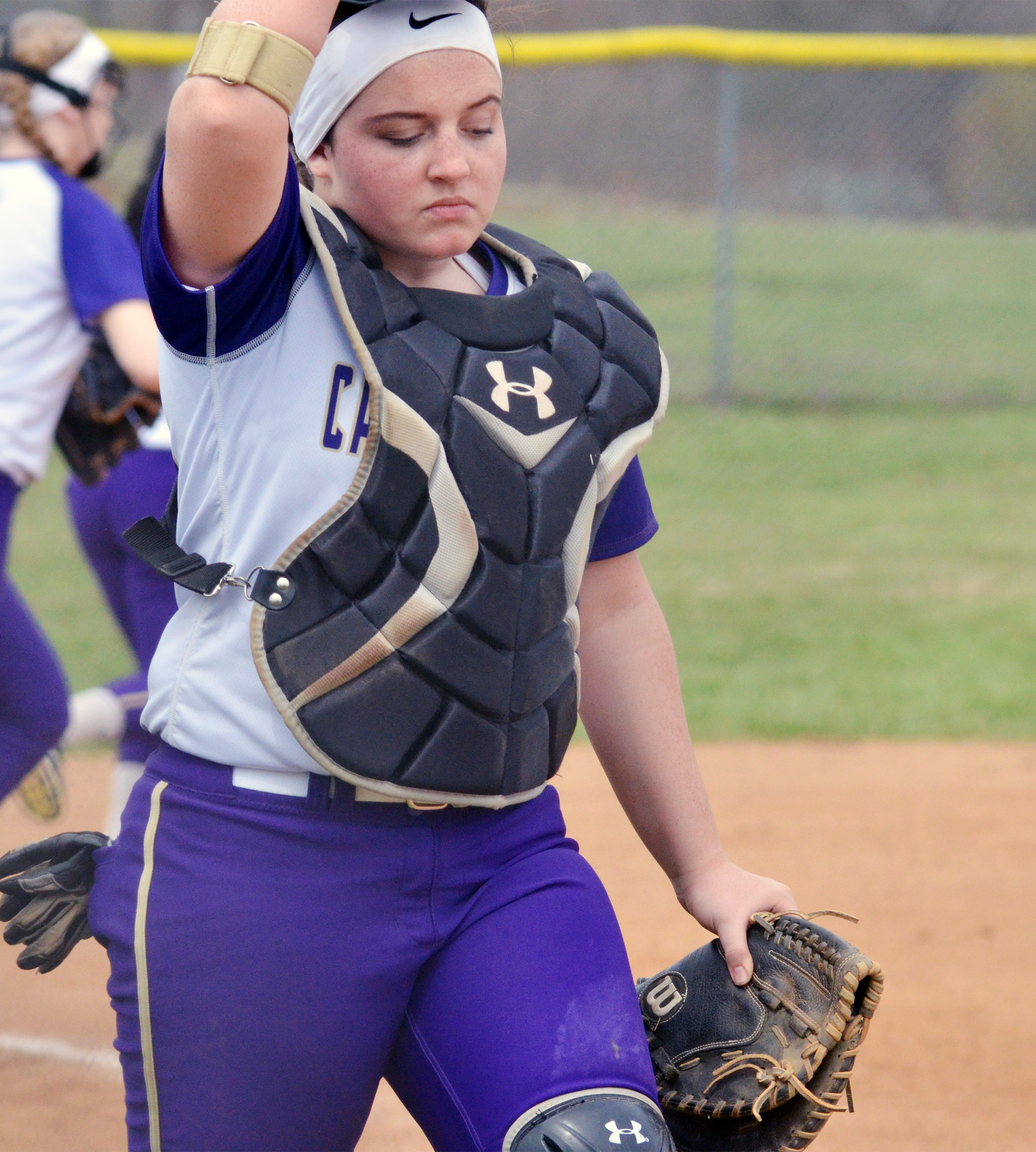 CHS junior Caitlin Bright walks to the plate.