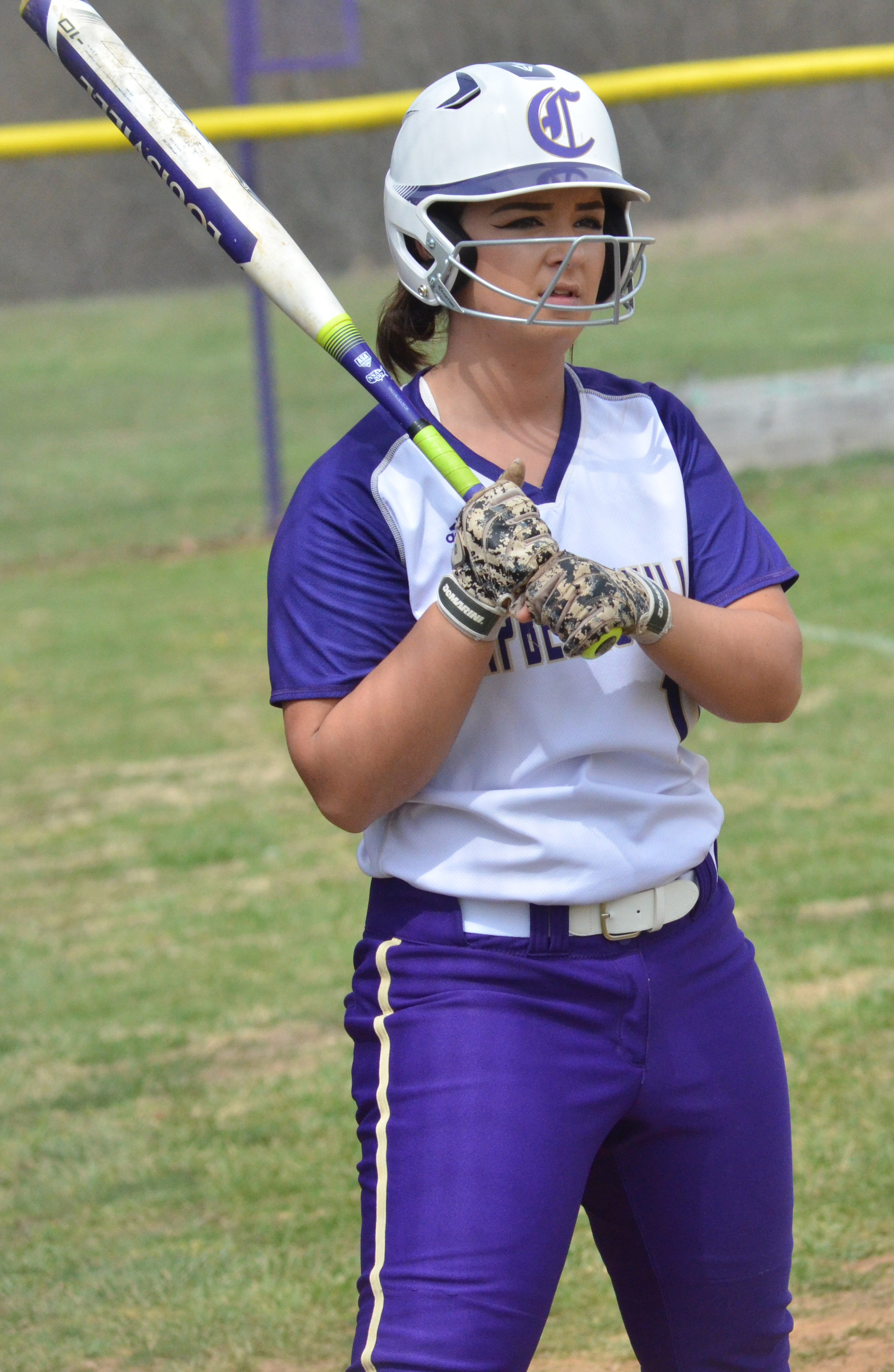 CHS senior Kailey Morris waits to bat.