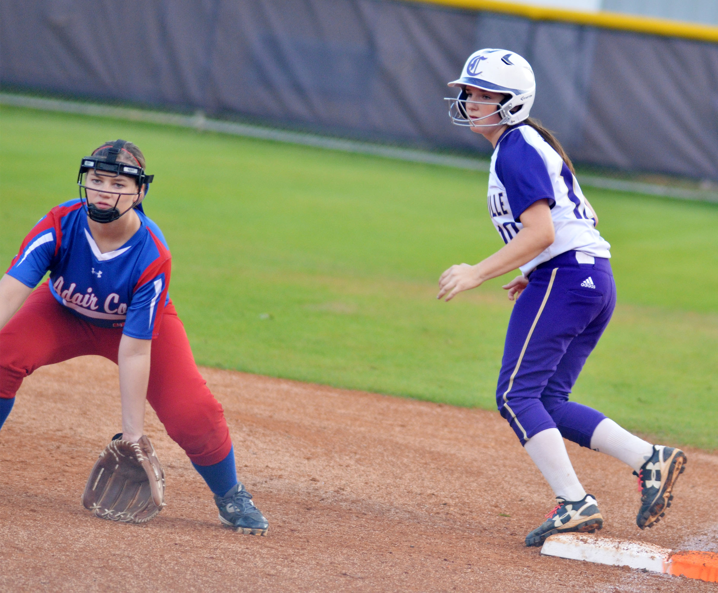 CHS freshman Sydney Wilson waits for the hit.