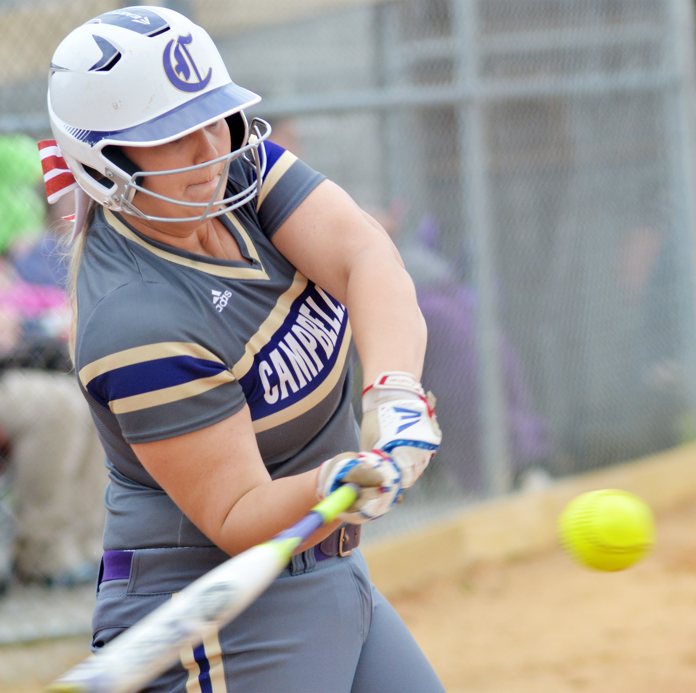 CHS senior Brenna Wethington hits the ball.