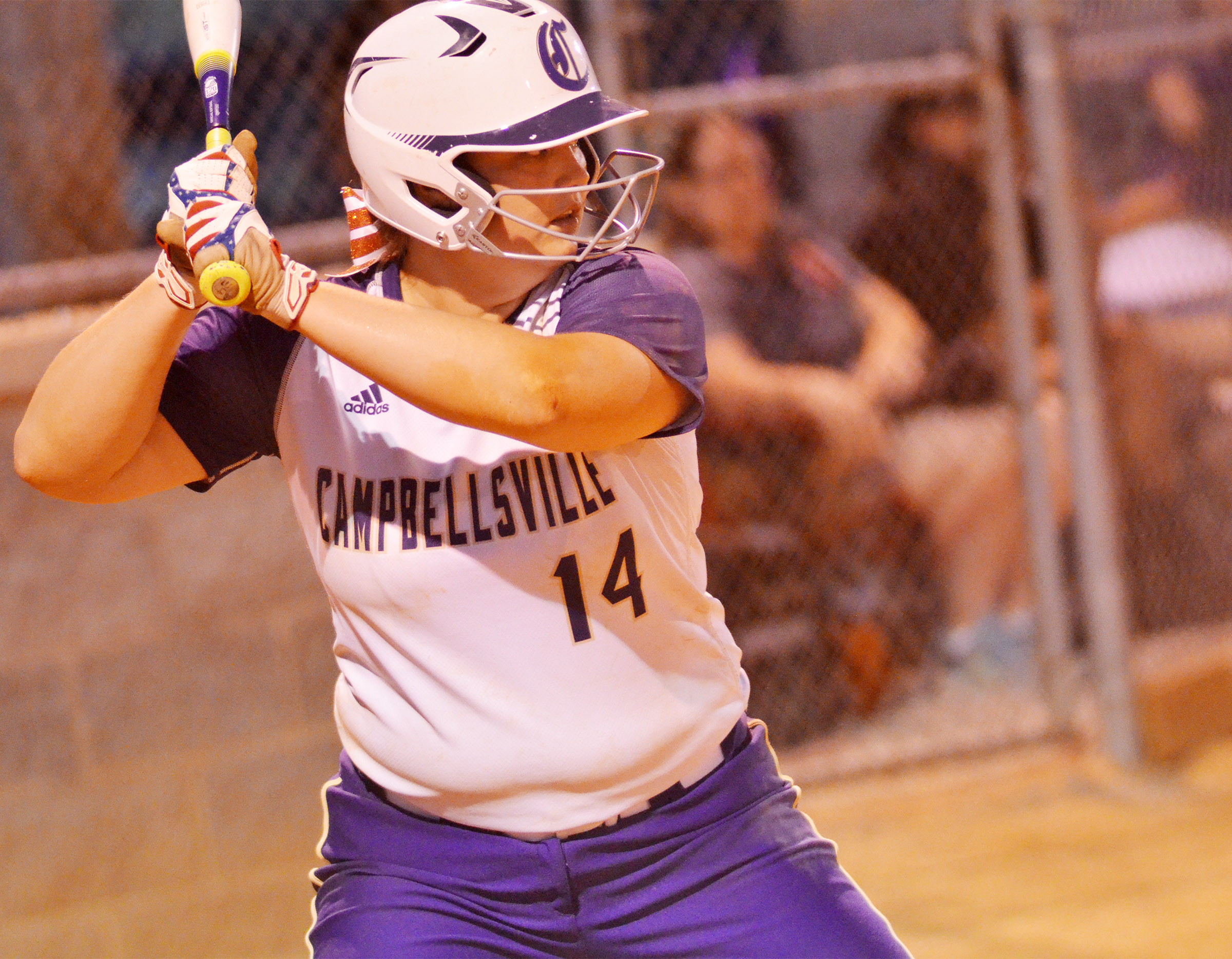 CHS senior Brenna Wethington bats.