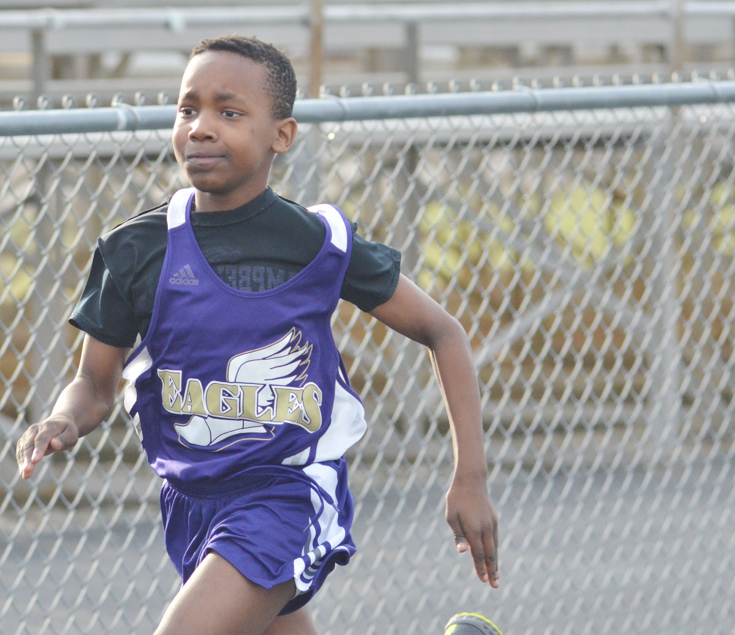 CMS seventh-grader Jadan Furman runs.
