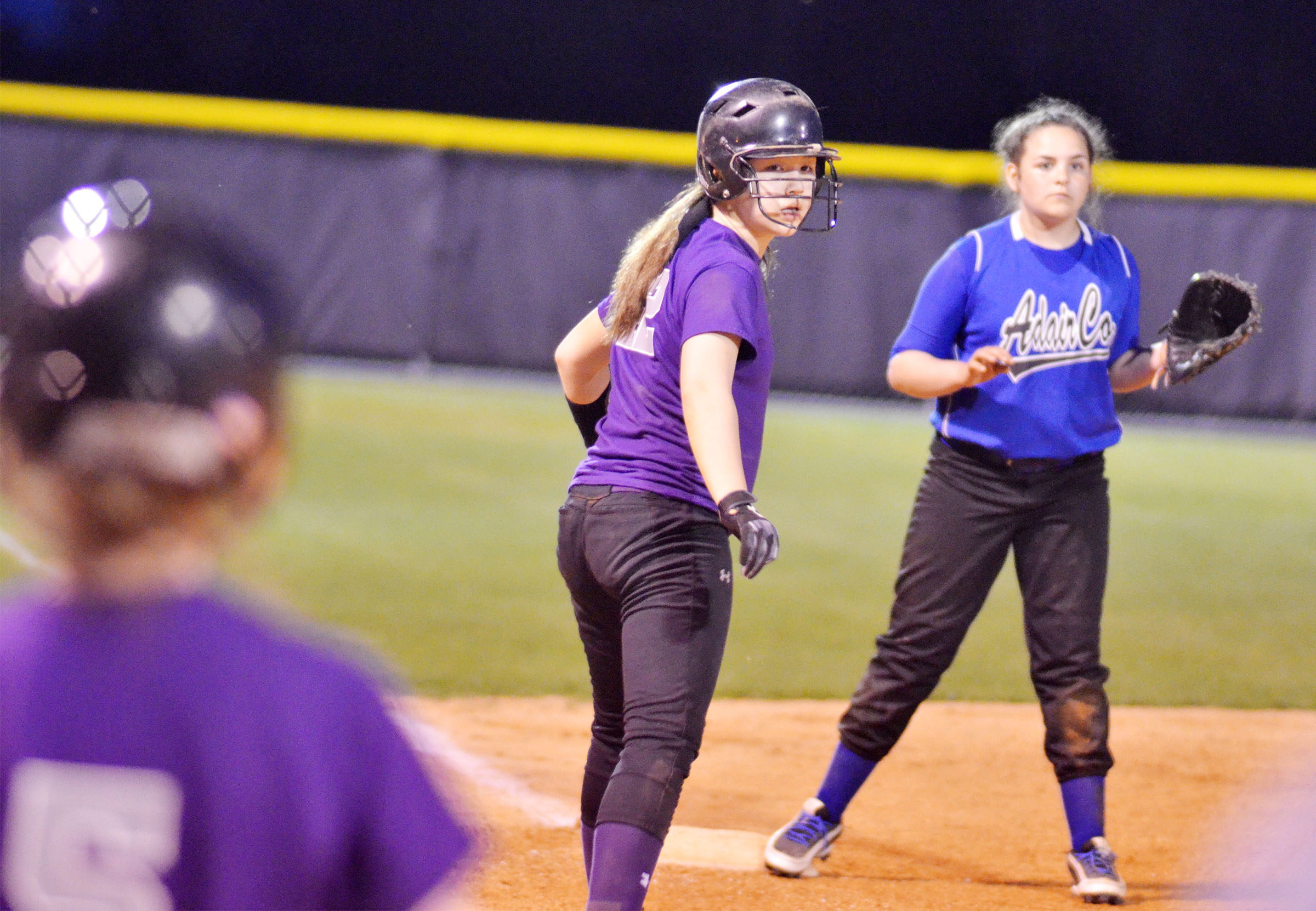 CMS seventh-grader Olivia Fields looks to run home.