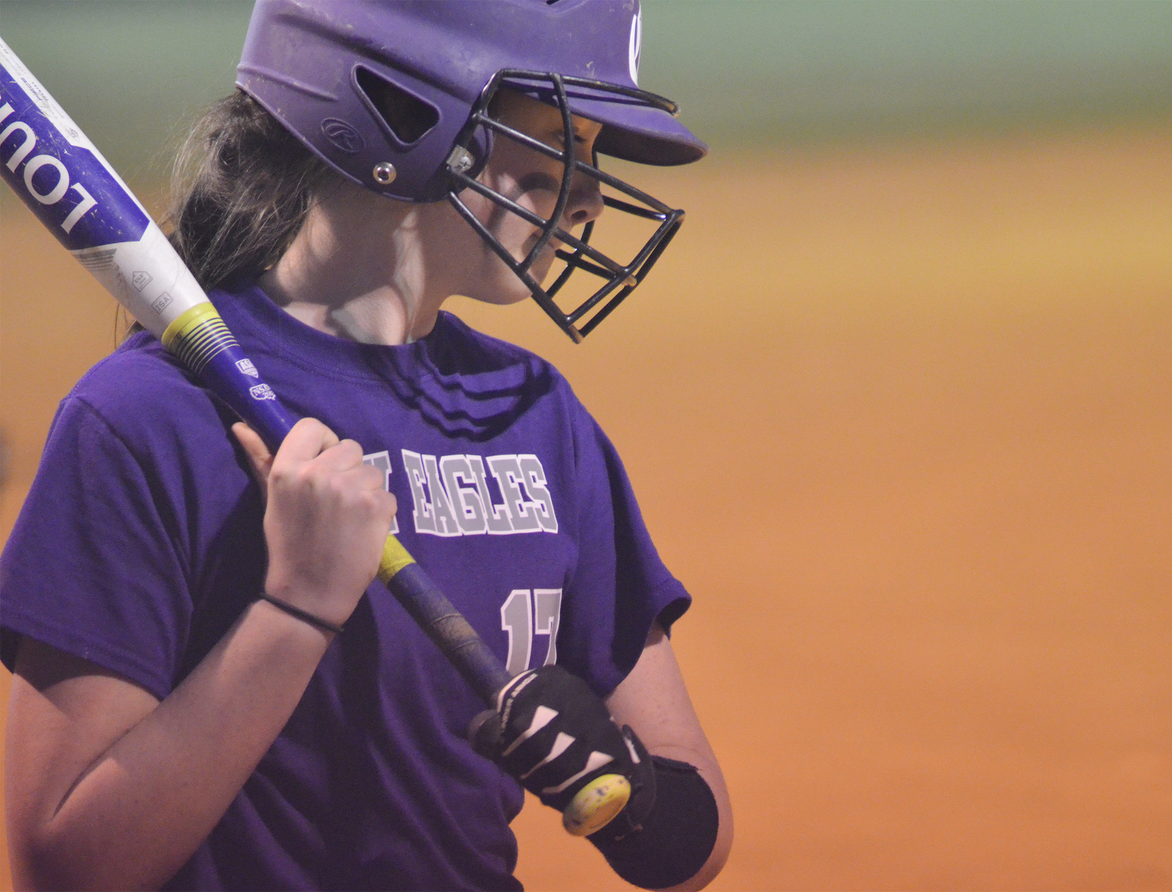 CMS seventh-grader Karley Morris gets ready to bat.
