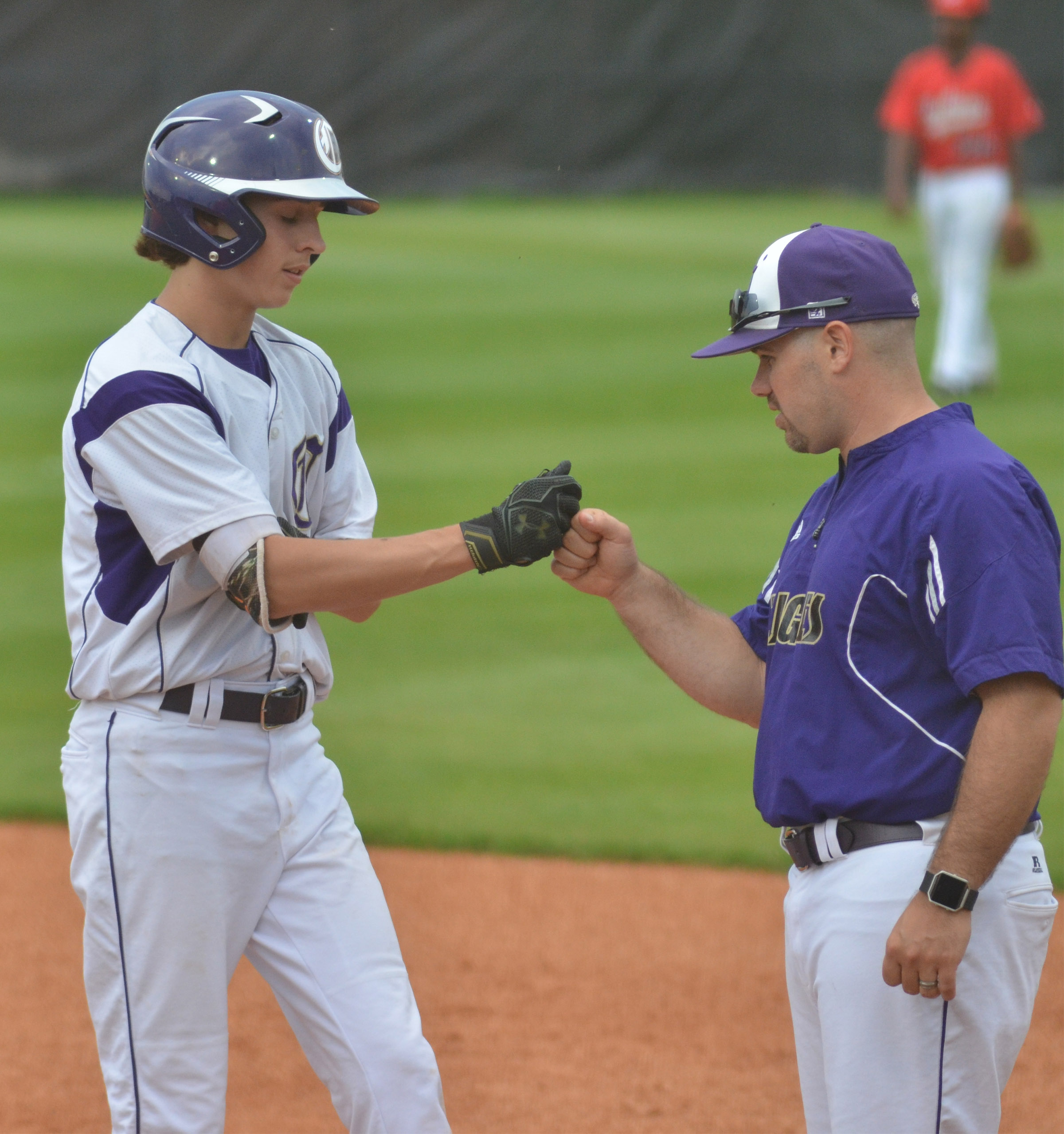 Blake Milby, at right, a former CHS baseball player and assistant coach, has been named head coach. He succeeds Kirby Smith, who coached for 11 years and is now superintendent.