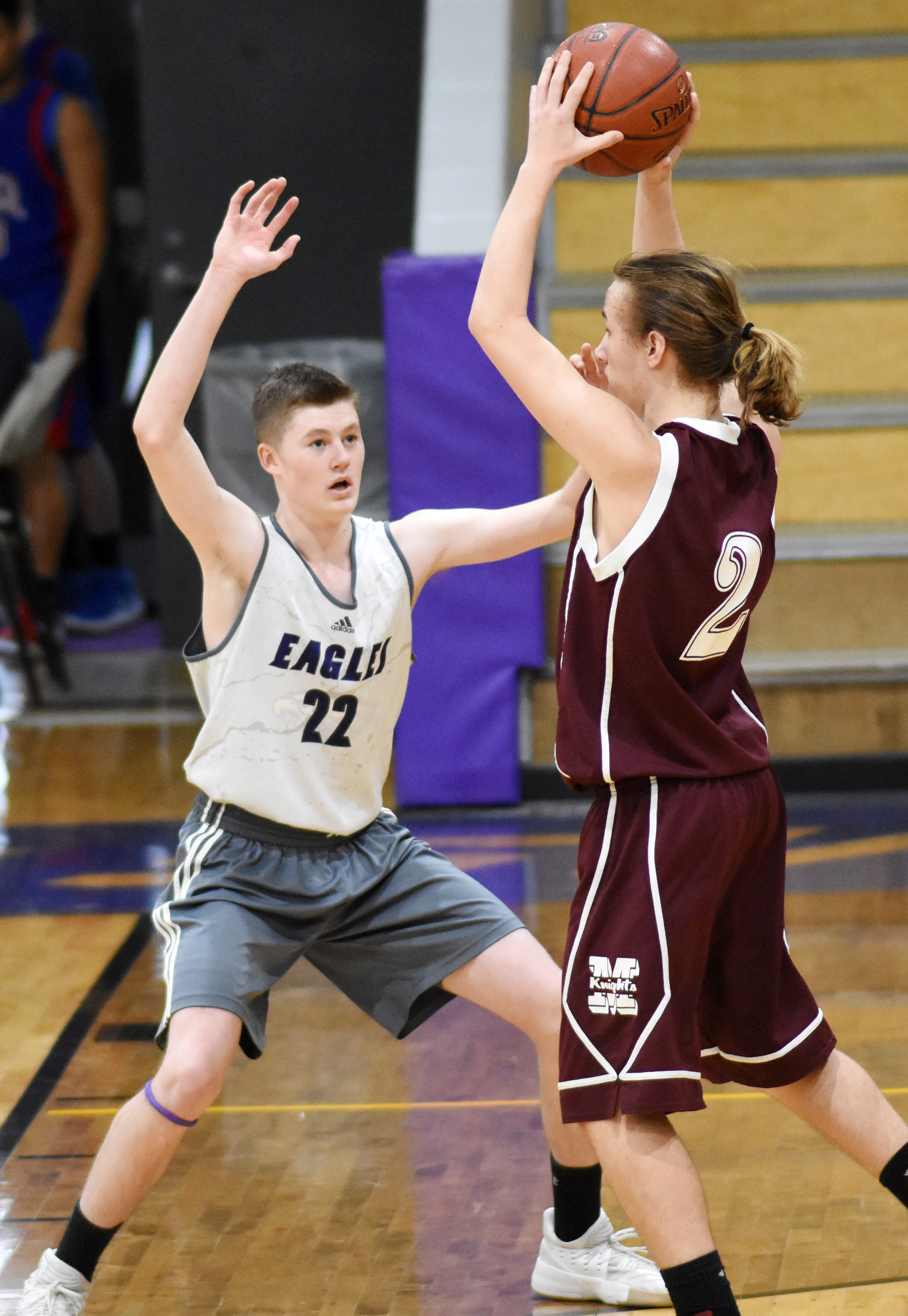 CHS freshman Tristin Faulkner plays defense.