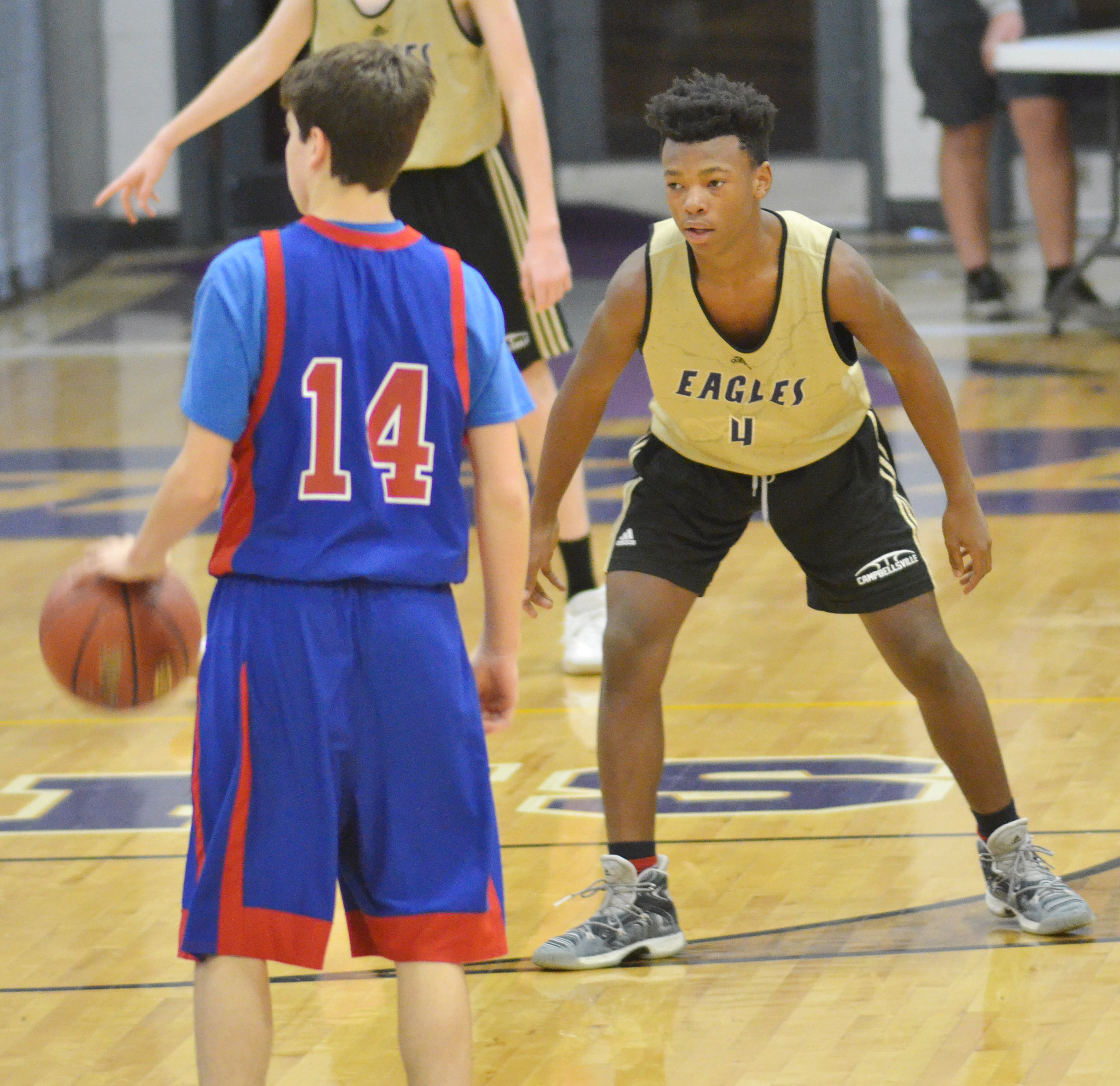 CHS freshman Sae'von Buckner plays defense.