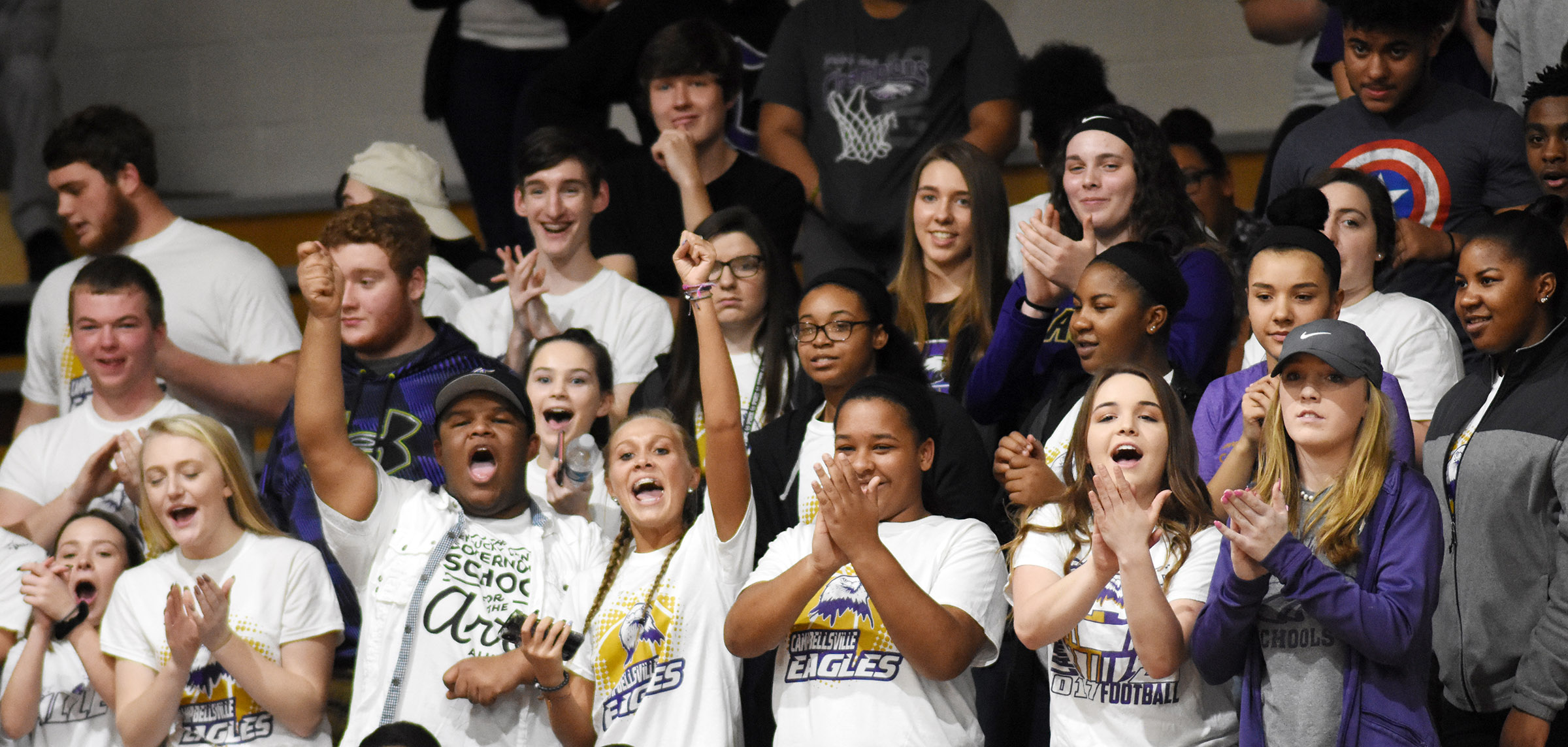CHS students cheer.