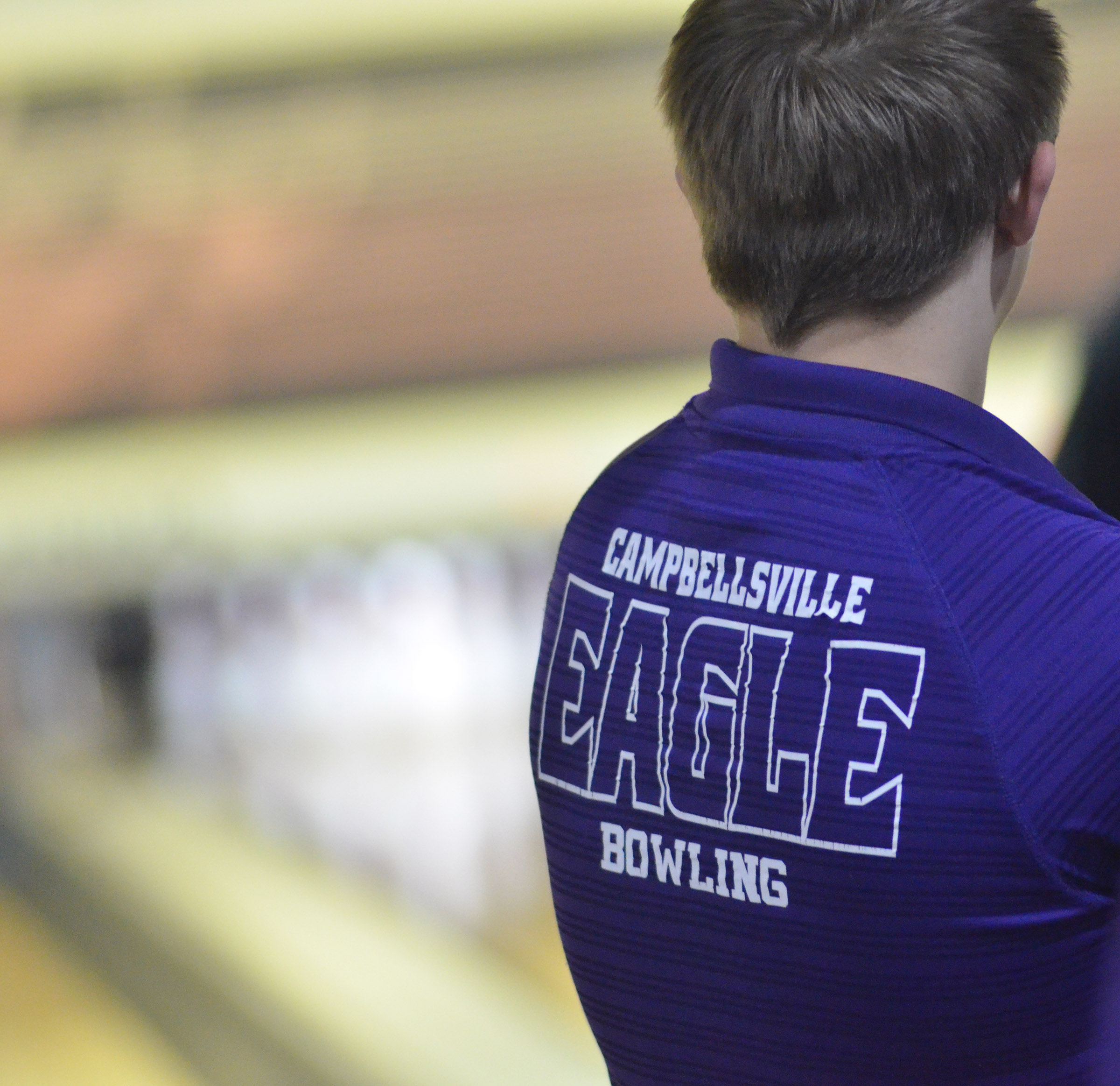 CHS sophomore Dalton Brown watches as his teammates bowl.