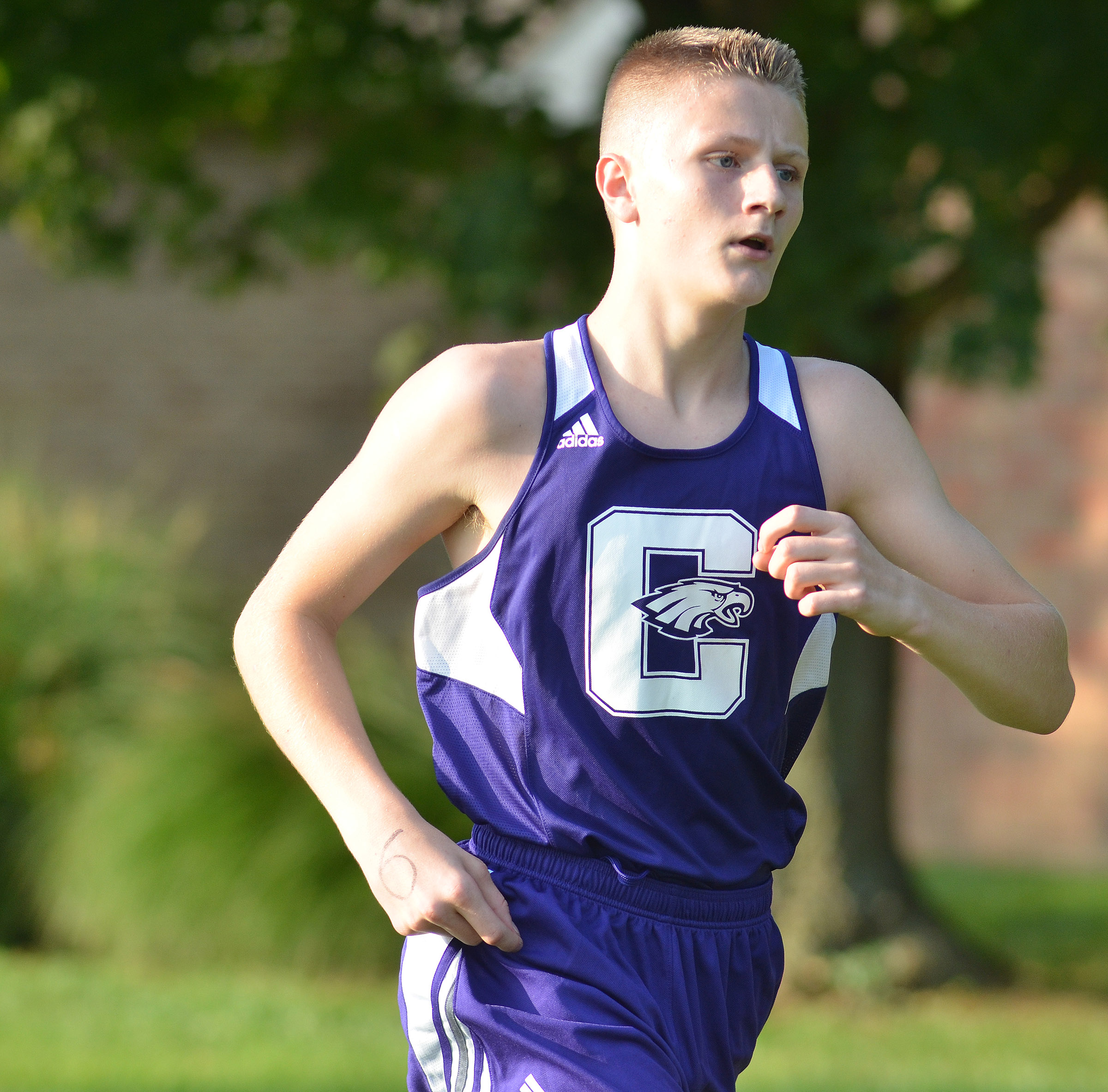CHS freshman Jake Dicken runs.