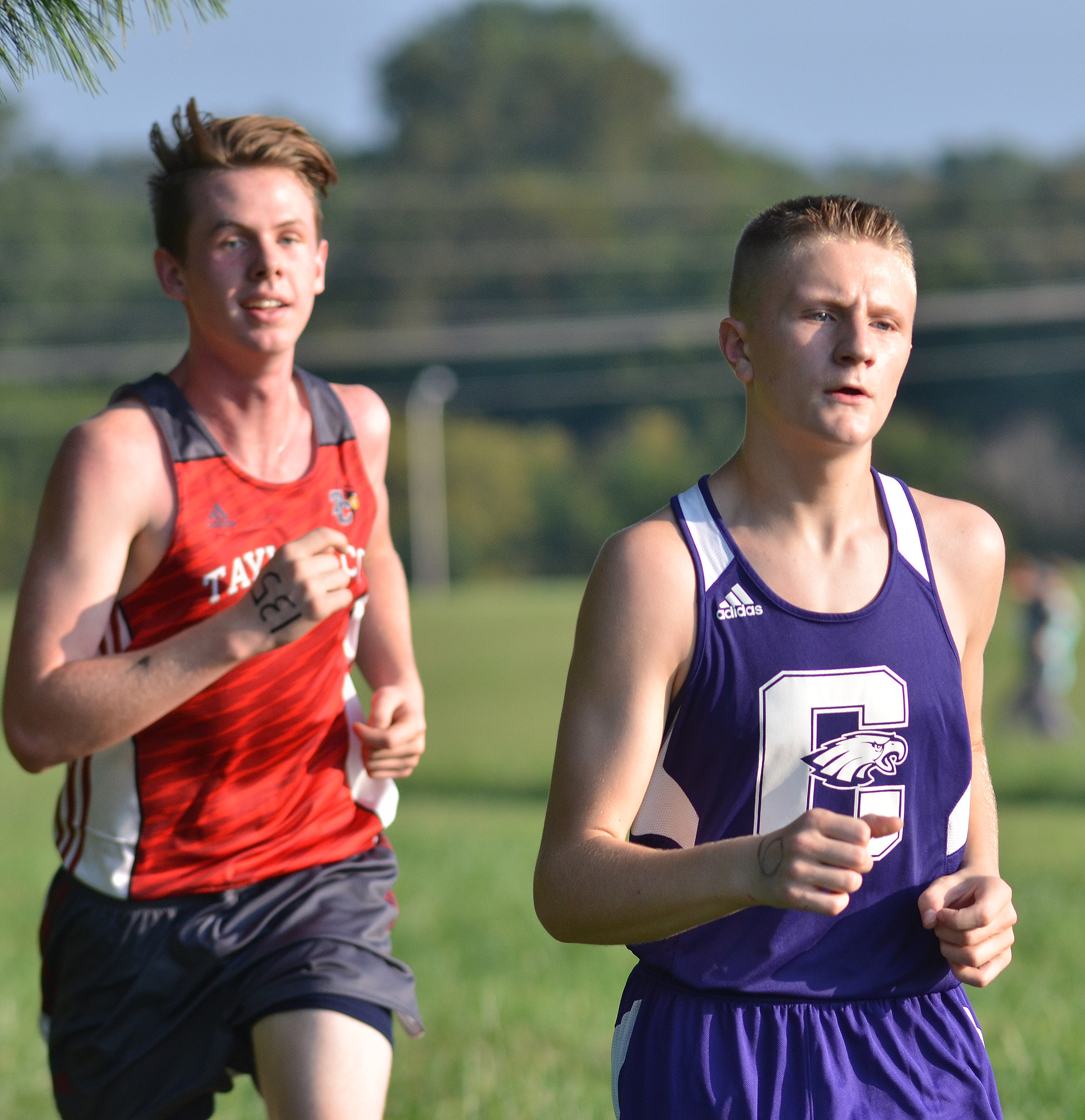 CHS freshman Jake Dicken races.