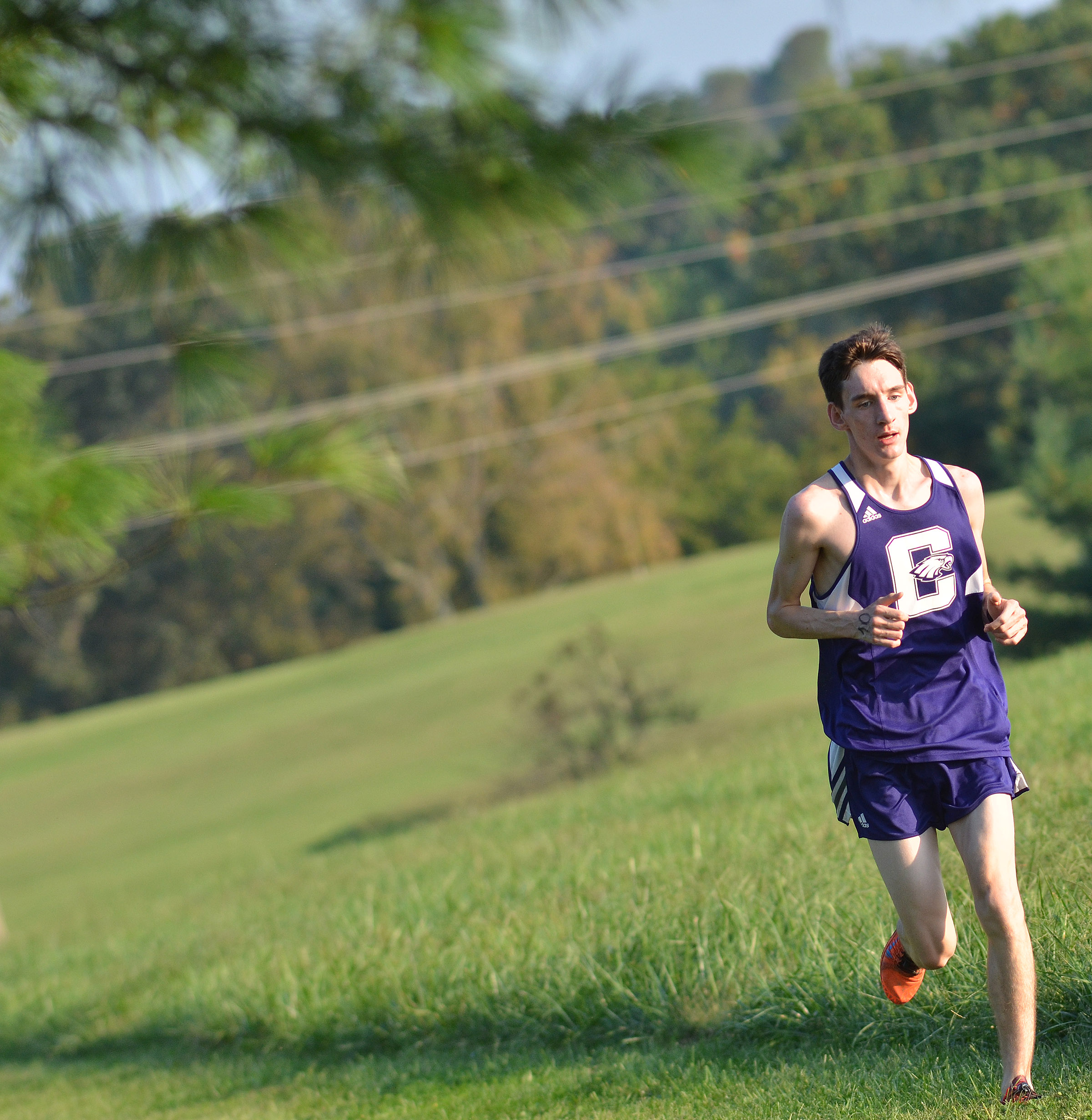 CHS junior Ian McAninch races.