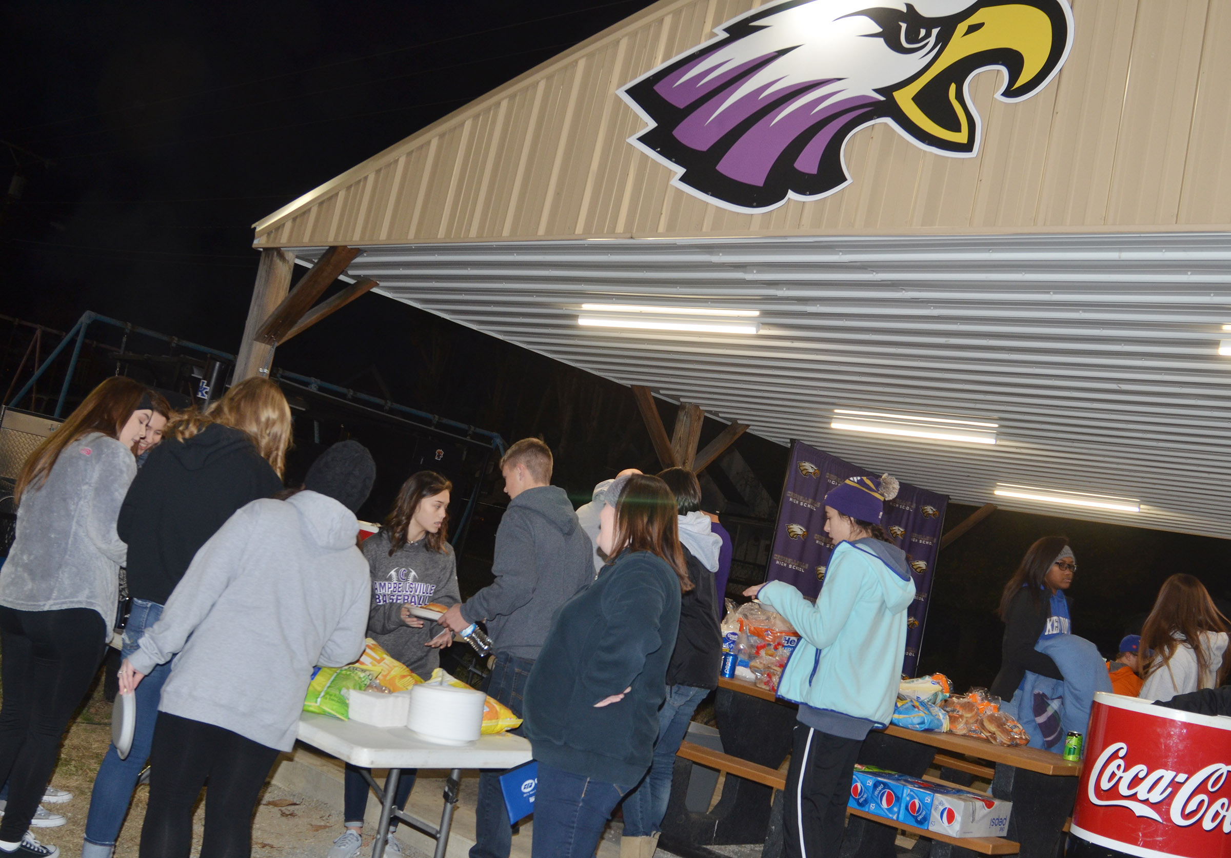 CHS hosted a tailgate before the game for students, staff members and fans.