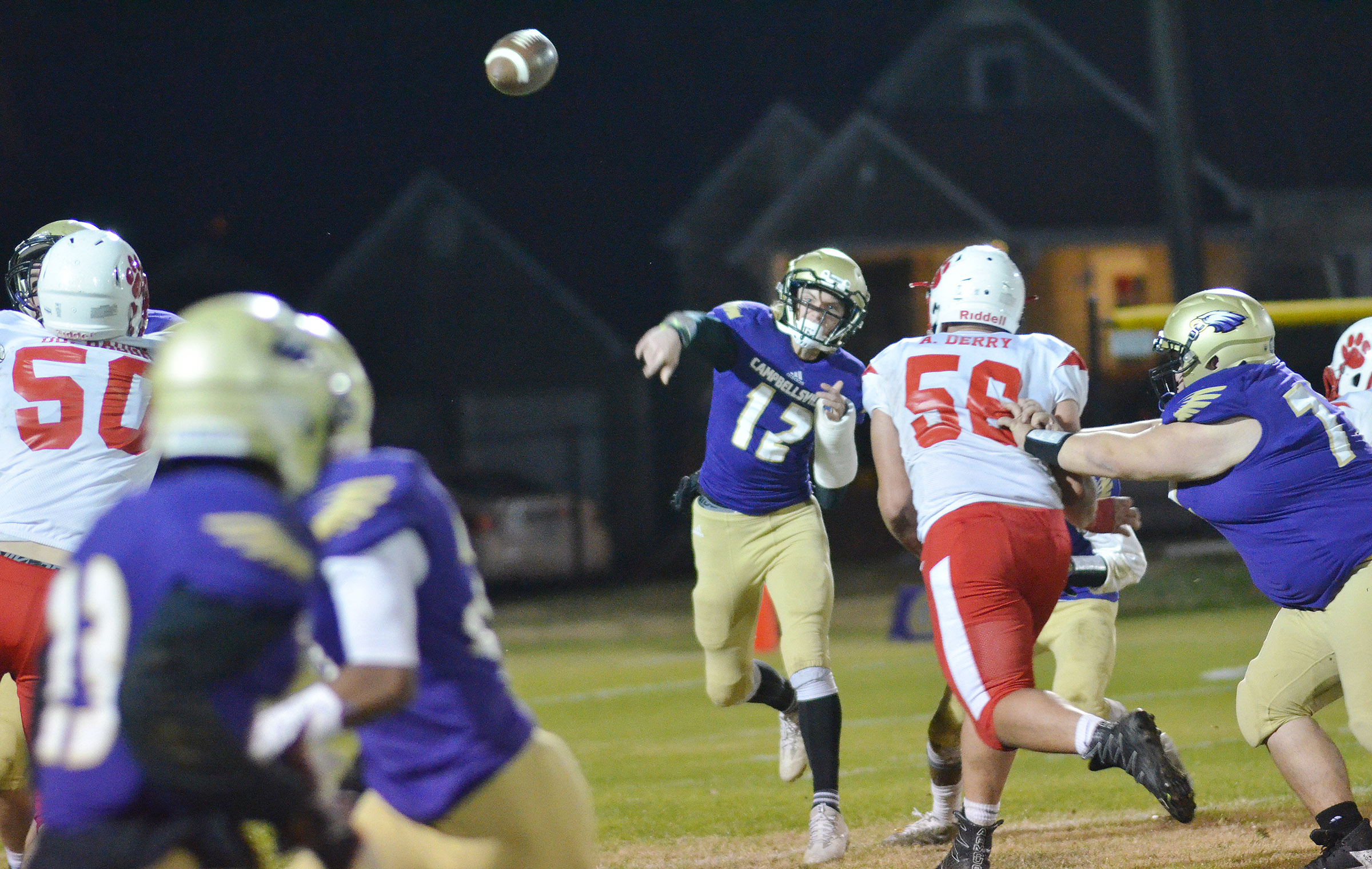 CHS freshman Arren Hash throws the ball.