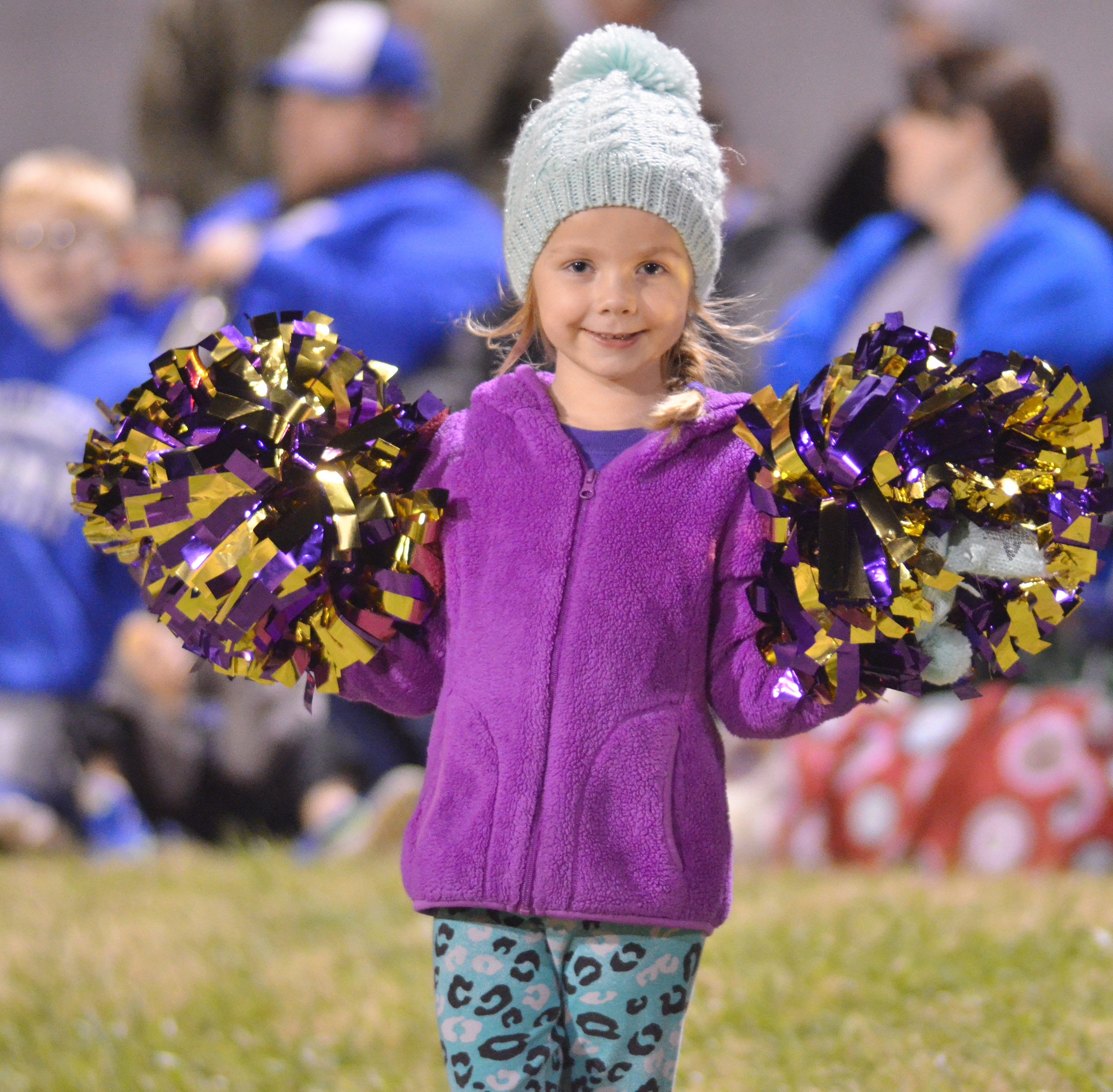 Campbellsville Elementary School kindergartener Trinidy Gribbins cheers for the Eagles.