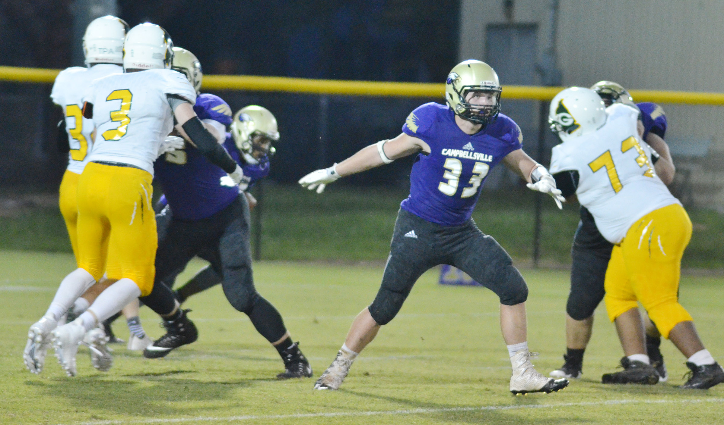 CHS junior Dakota Reardon tackles.