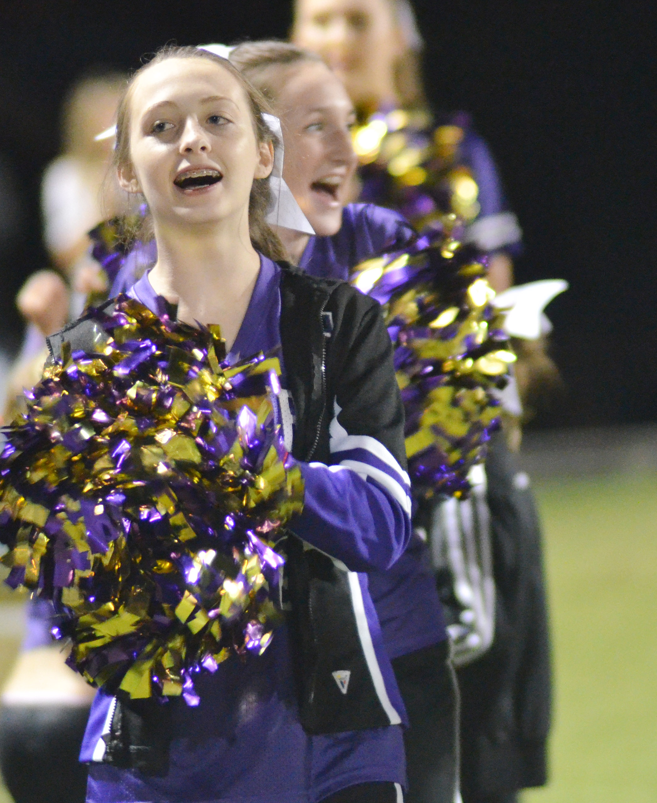 CHS junior Caleigh Bright cheers for the Eagles.