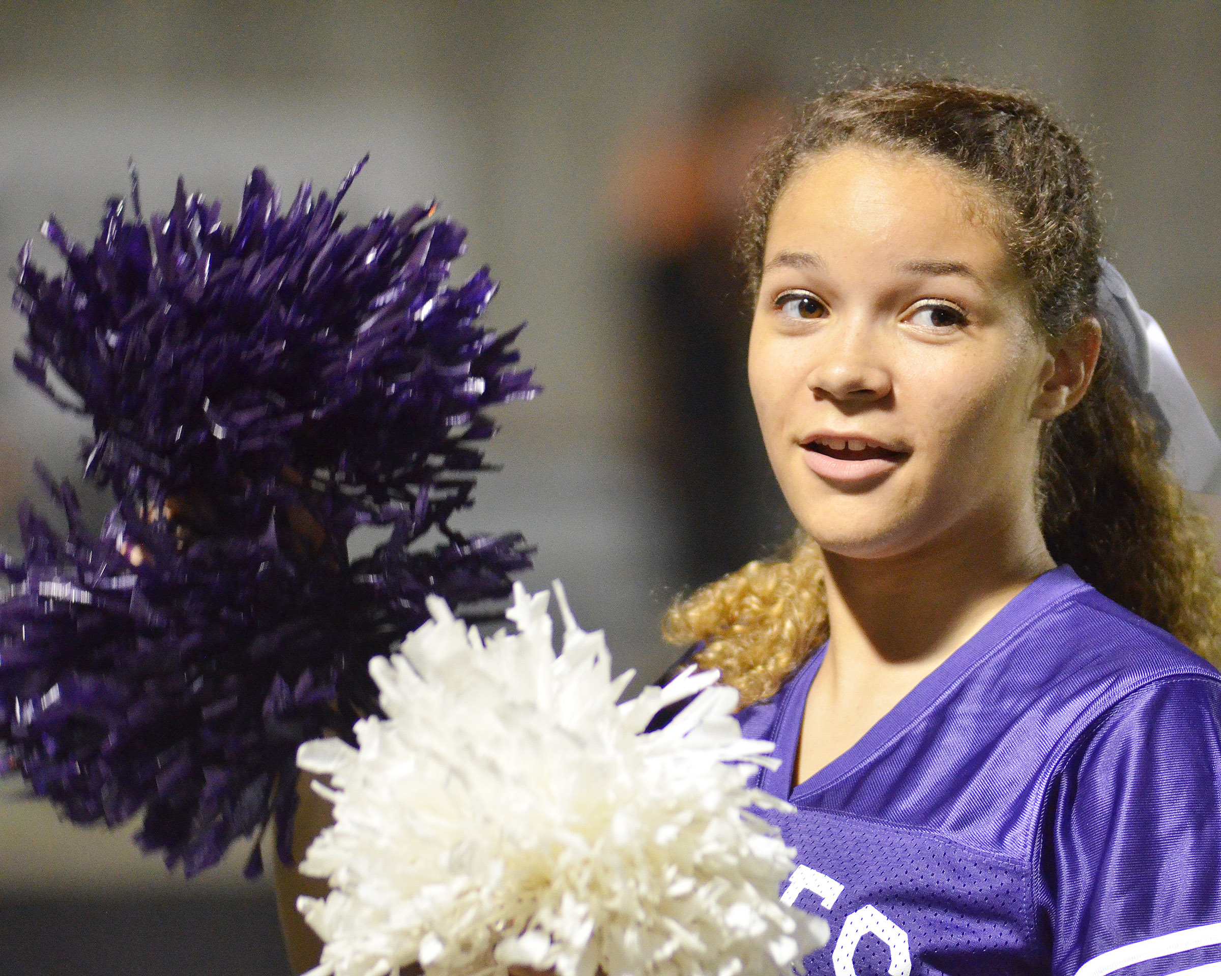 CHS sophomore Taliyah Hazelwood cheers for the Eagles.