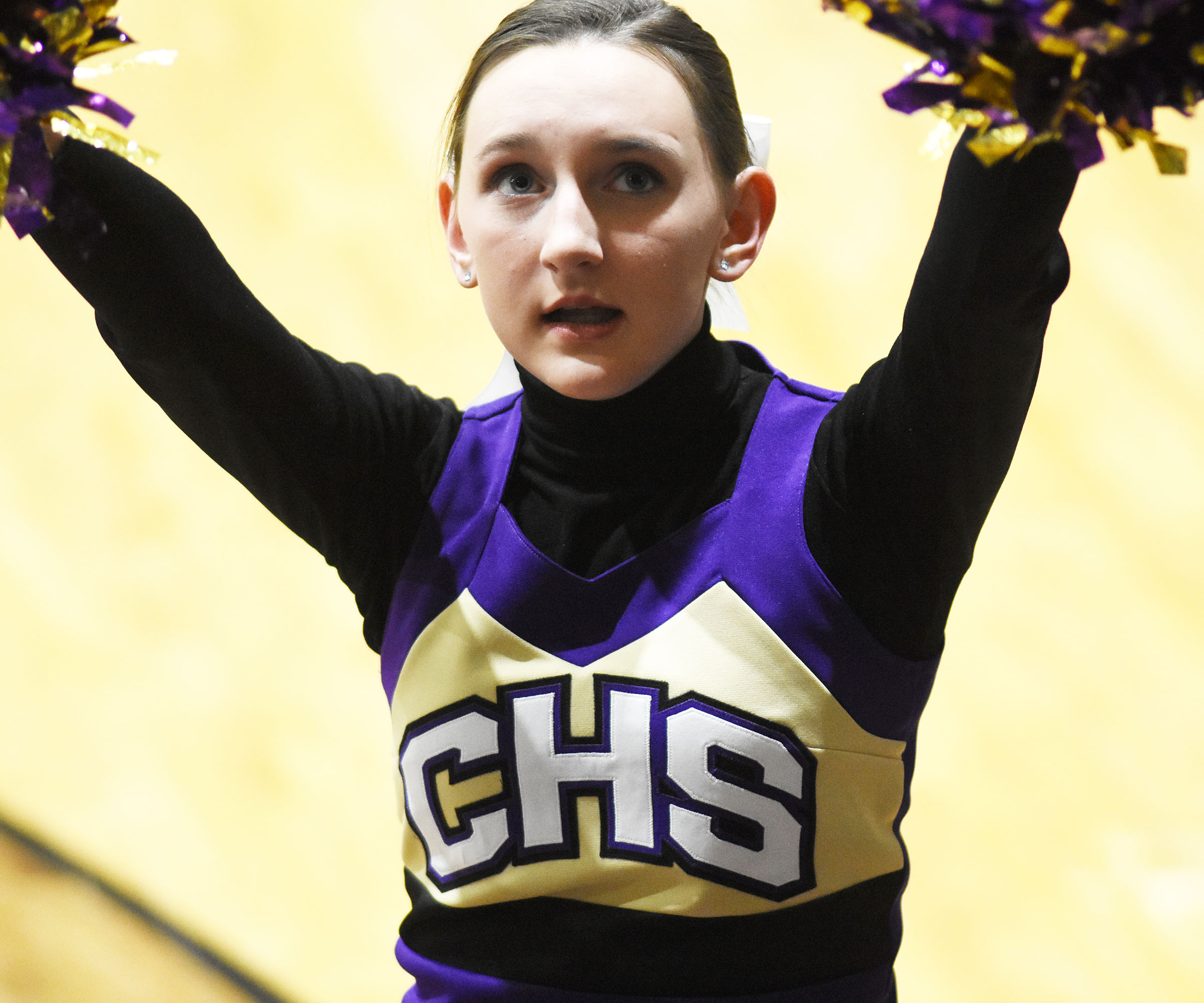 CHS sophomore Zoe McAninch cheers for the Eagles.