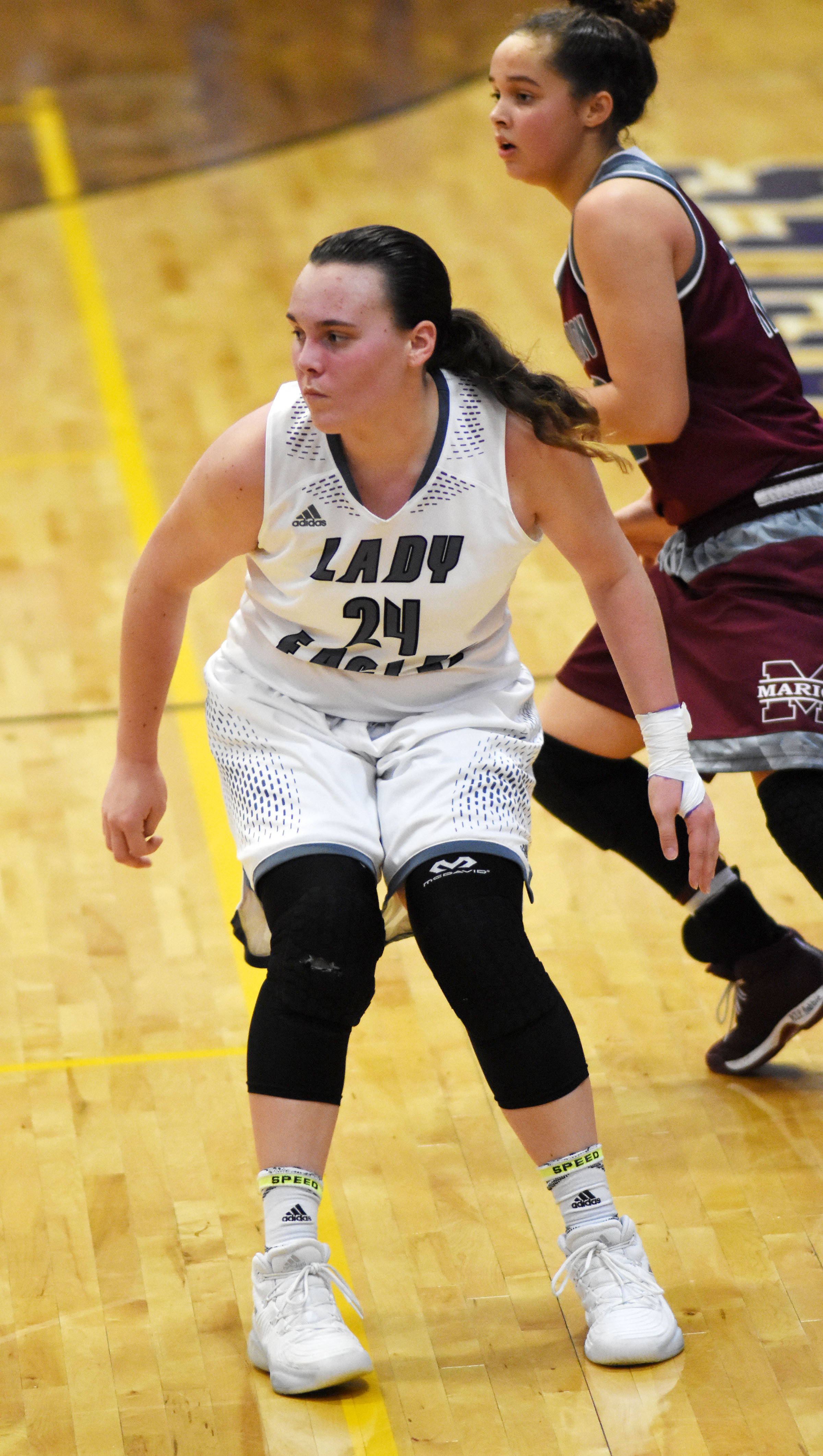 CHS sophomore Katelyn Miller plays defense.