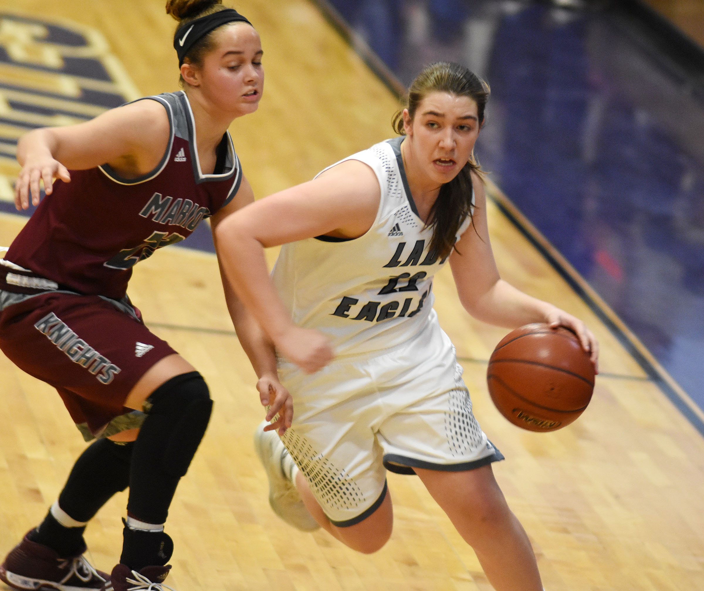 CHS freshman Abi Wiedewitsch drives the ball.