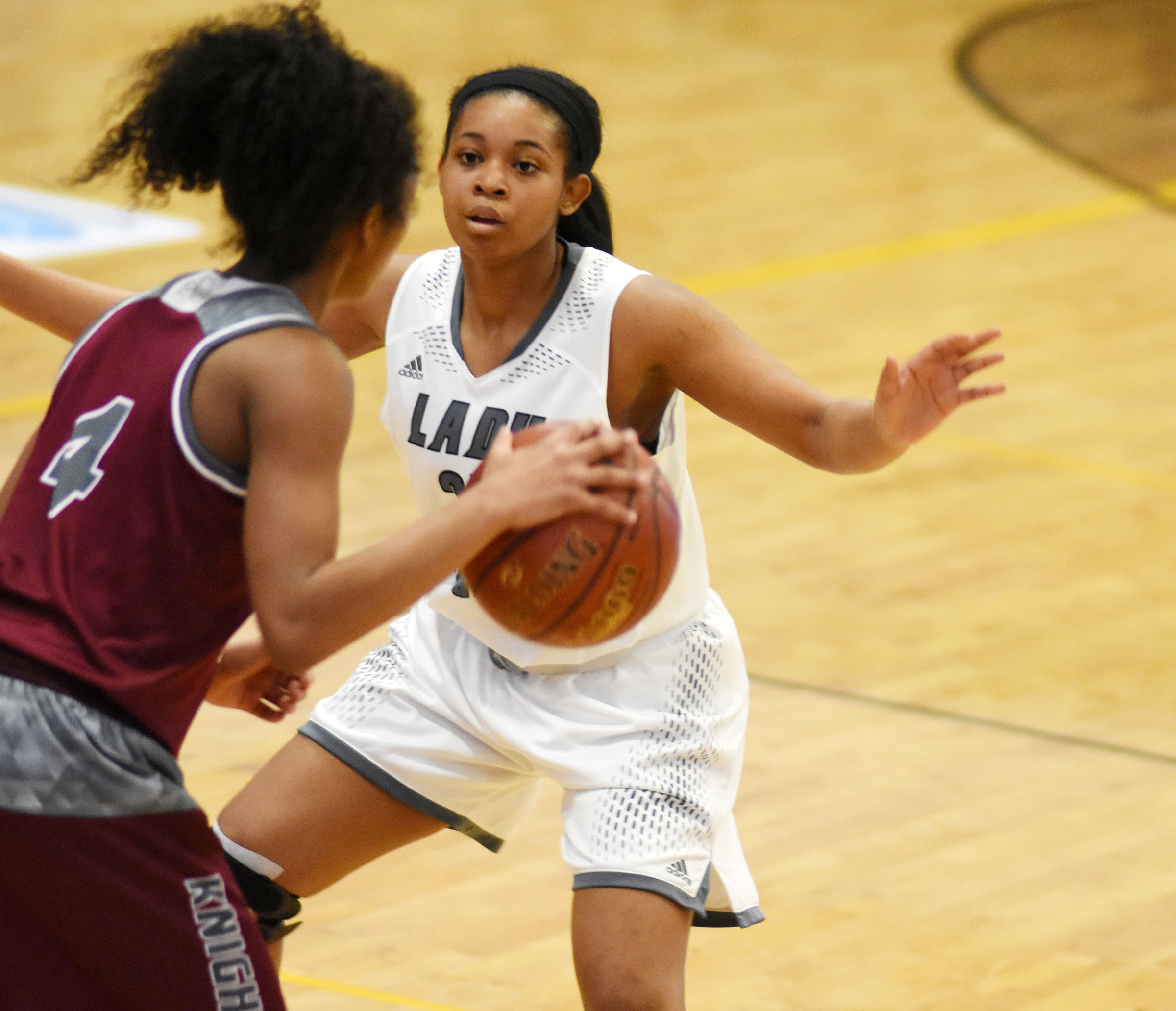 CHS senior Vonnea Smith plays defense.