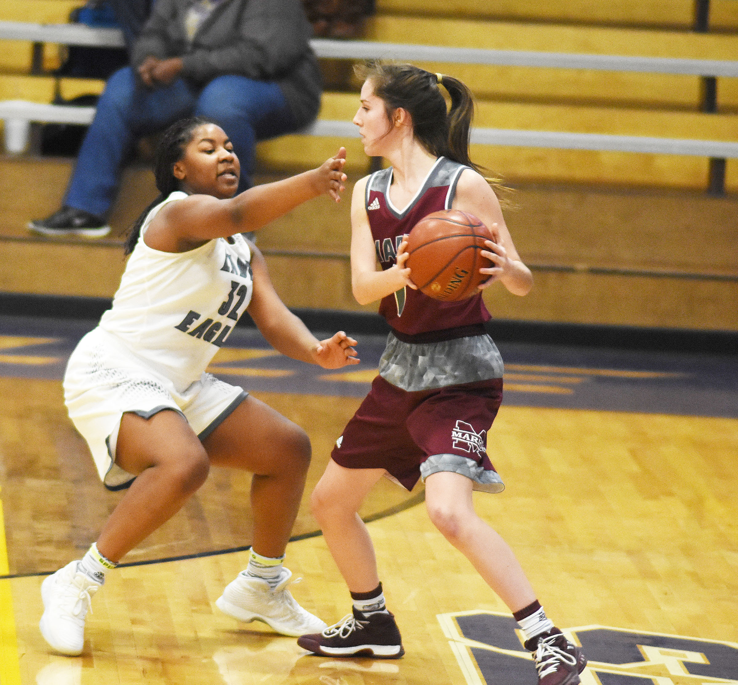 CHS senior Nena Barnett plays defense.