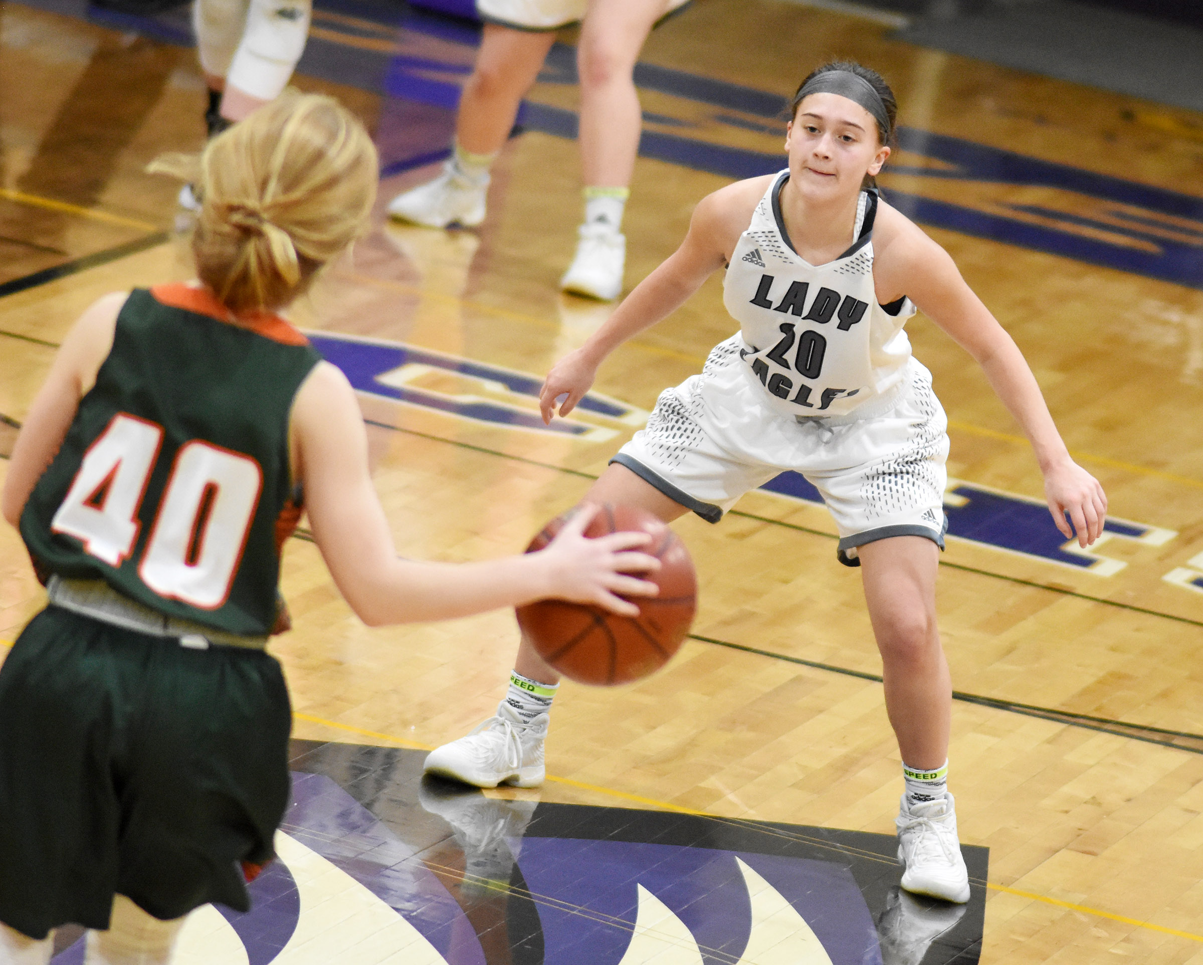 CHS sophomore Bailey Thompson plays defense.