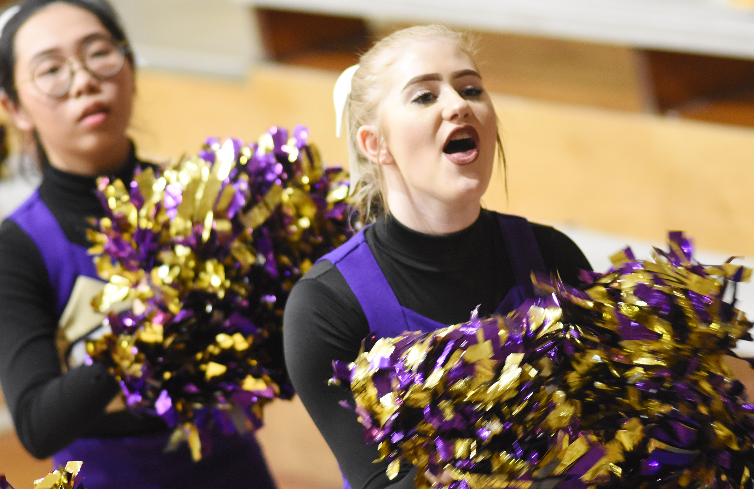 CHS sophomore Isabella Osborne cheers for the Eagles.
