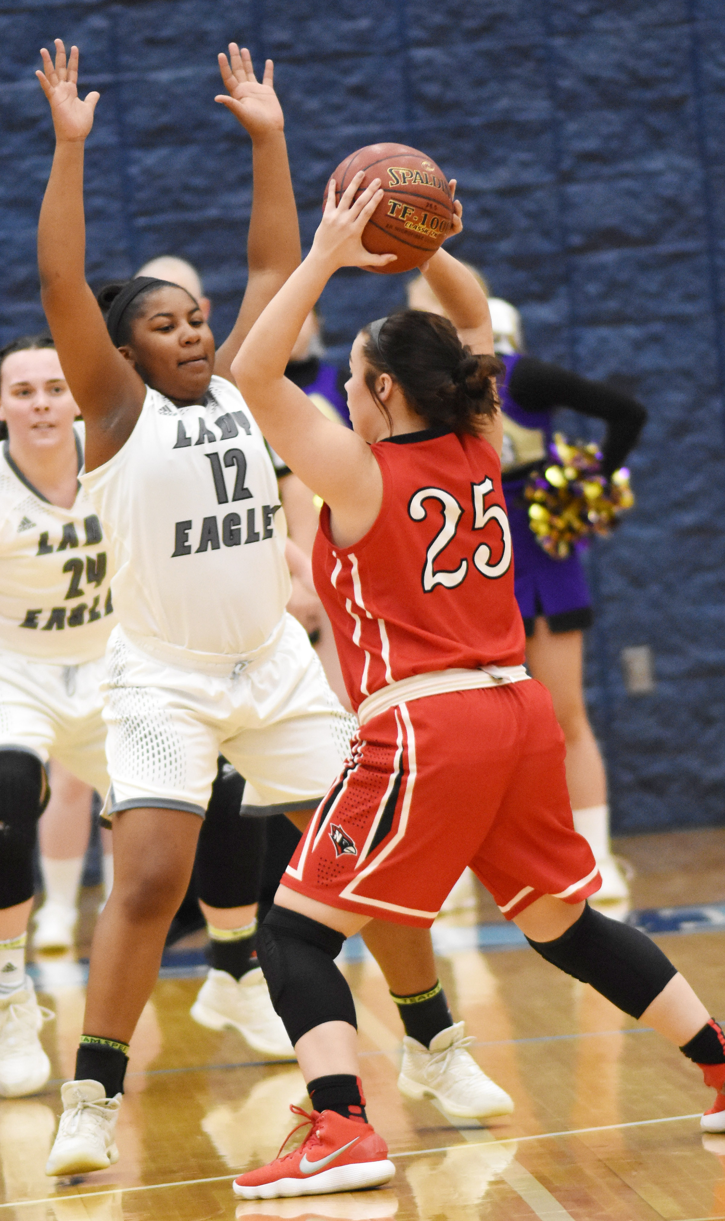 CHS senior Kiyah Barnett plays defense.