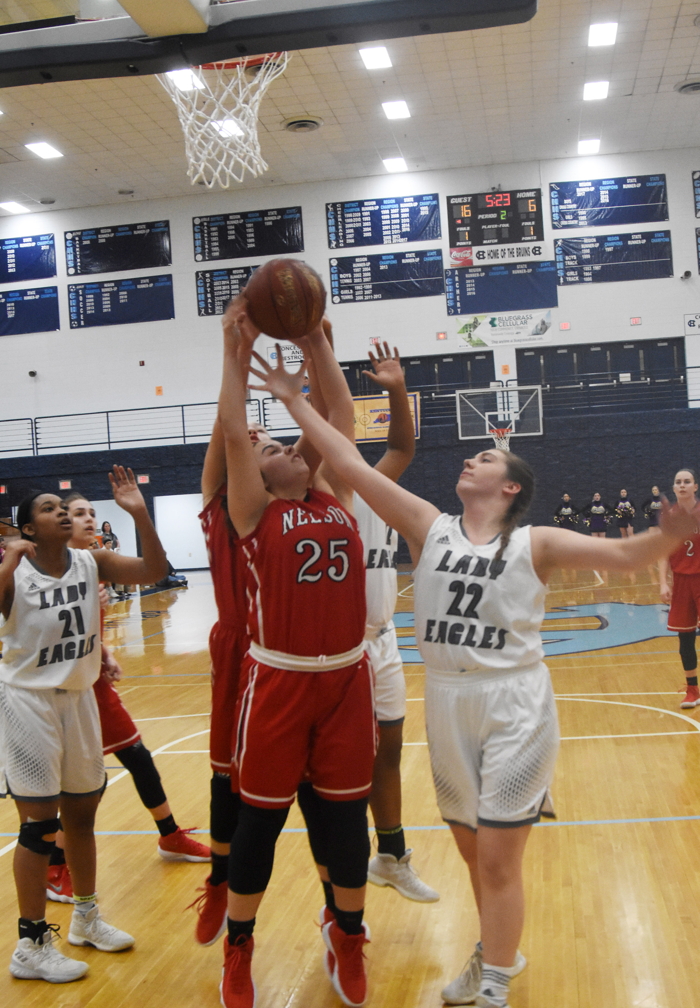 CHS freshman Abi Wiedewitsch tries to block a shot.