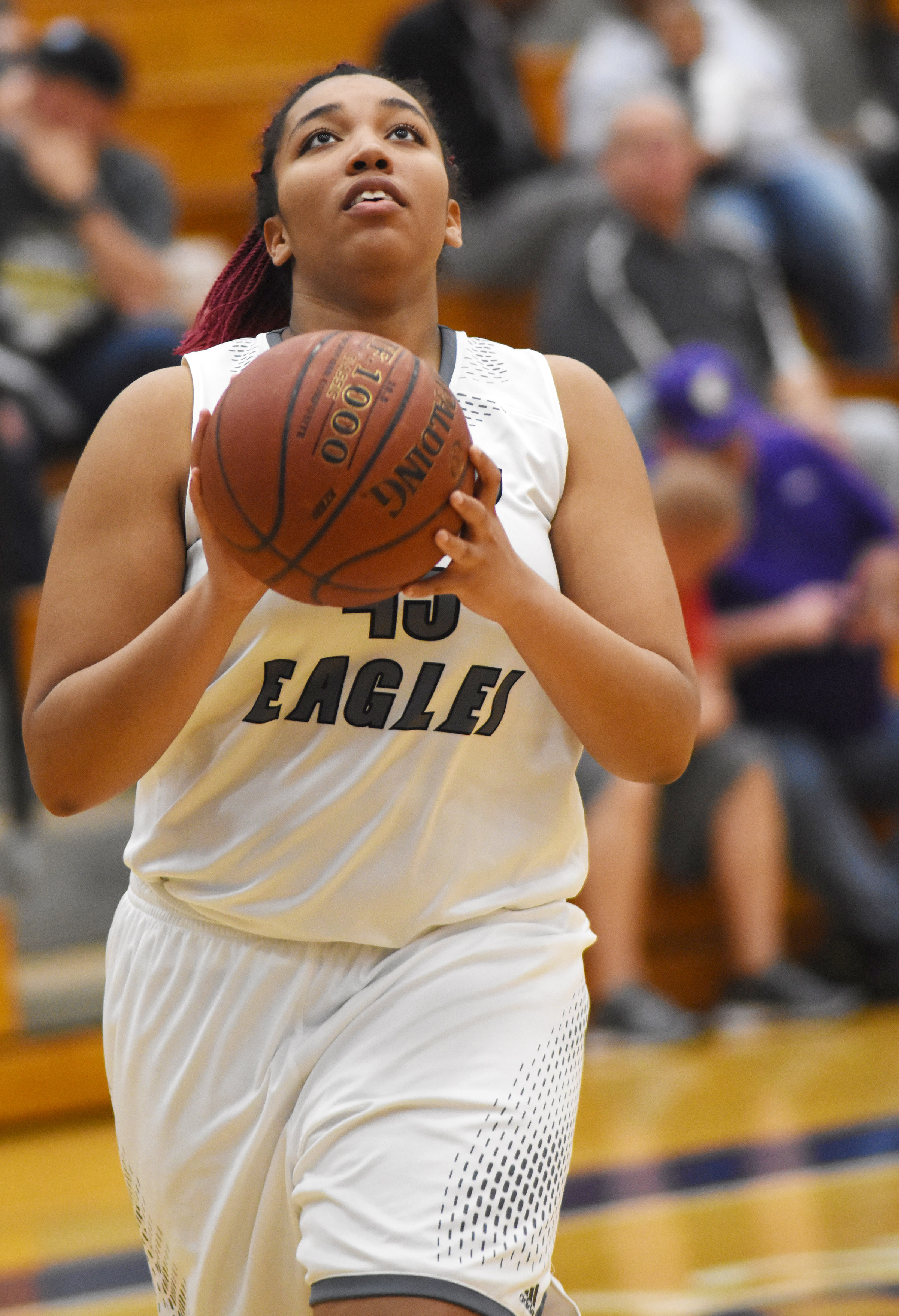 CHS junior Malaya Hoskins shoots the ball.