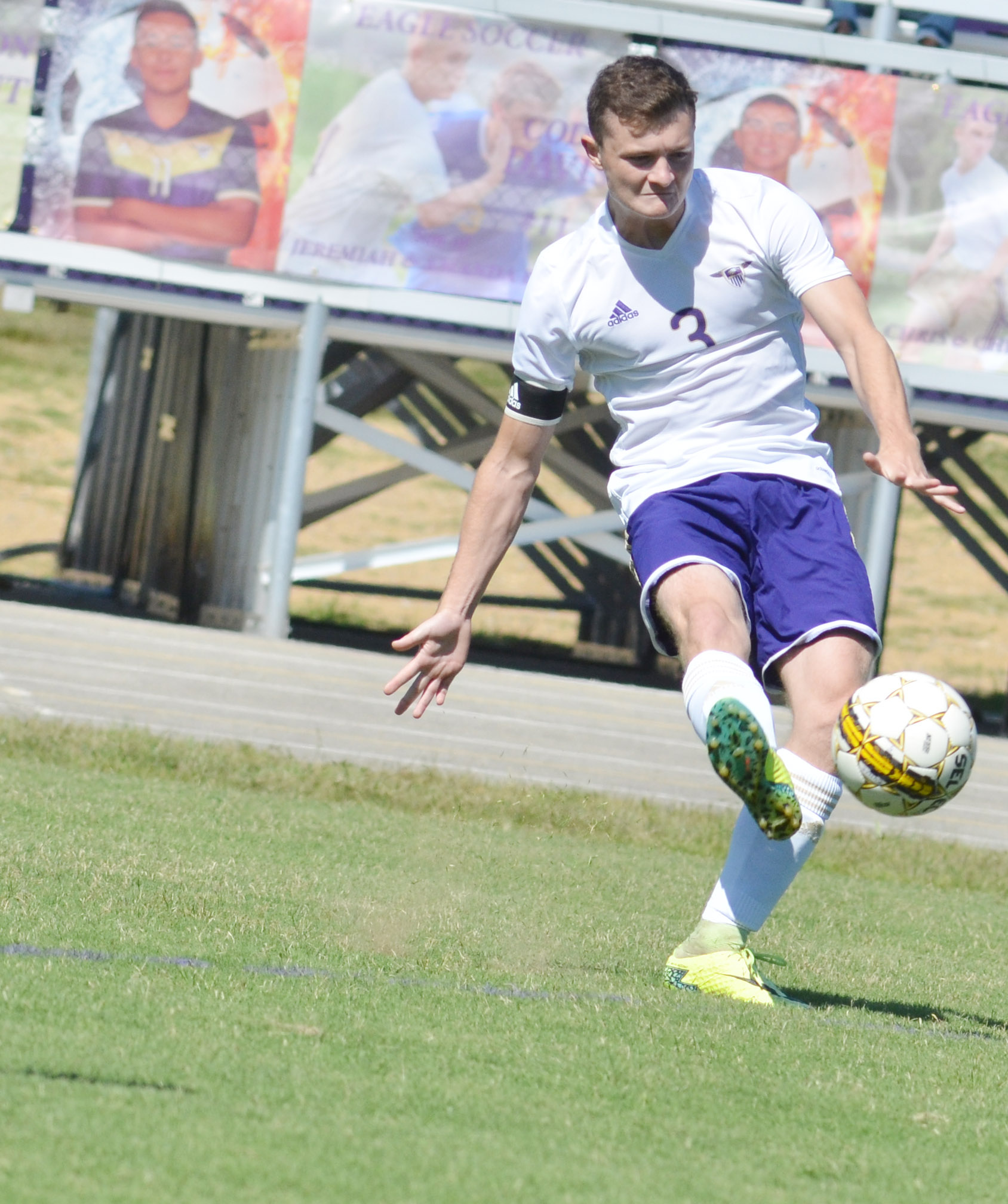 CHS senior Bryce Richardson kicks the ball.